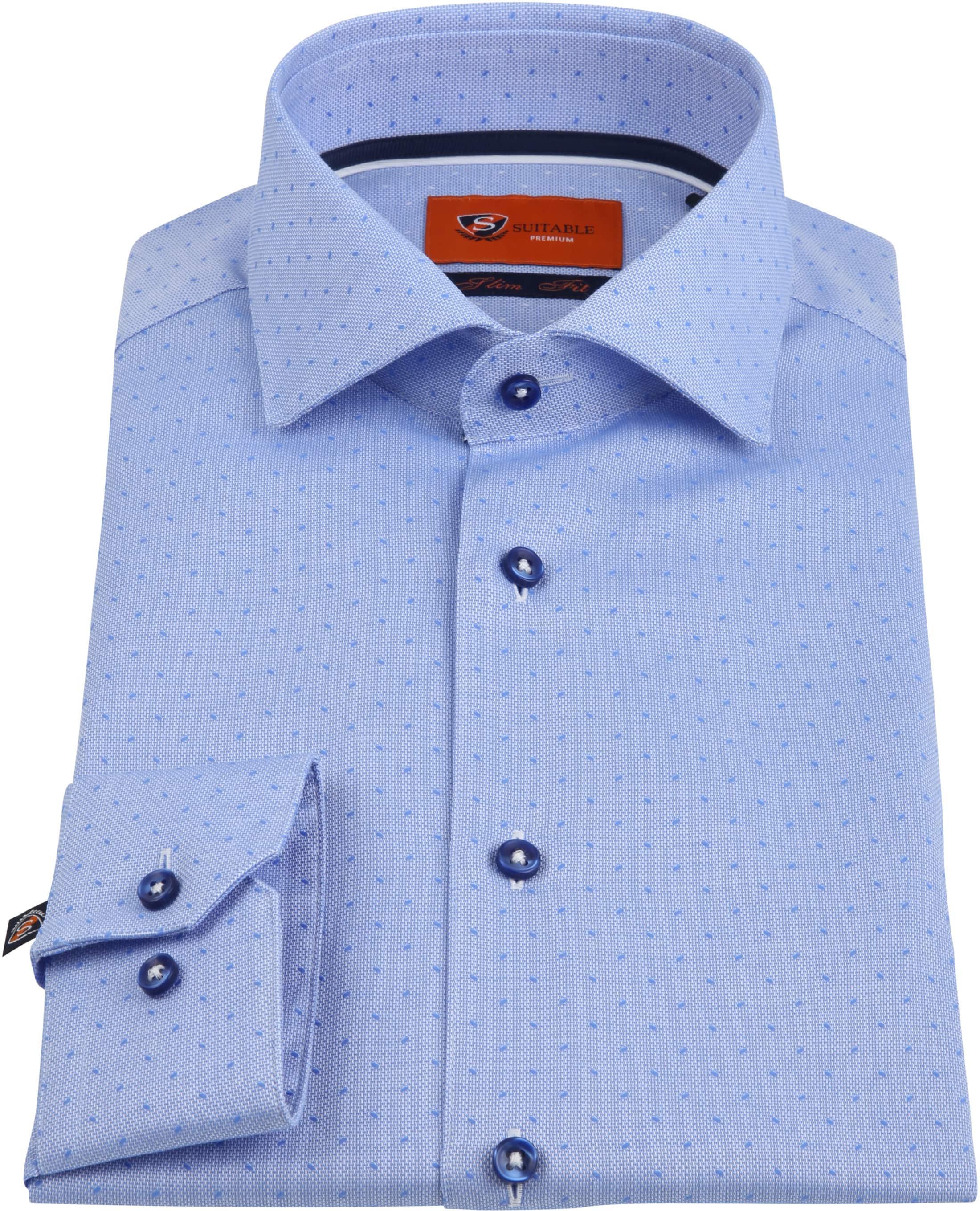 Suitable Shirt Oxford Dots Blue foto 2