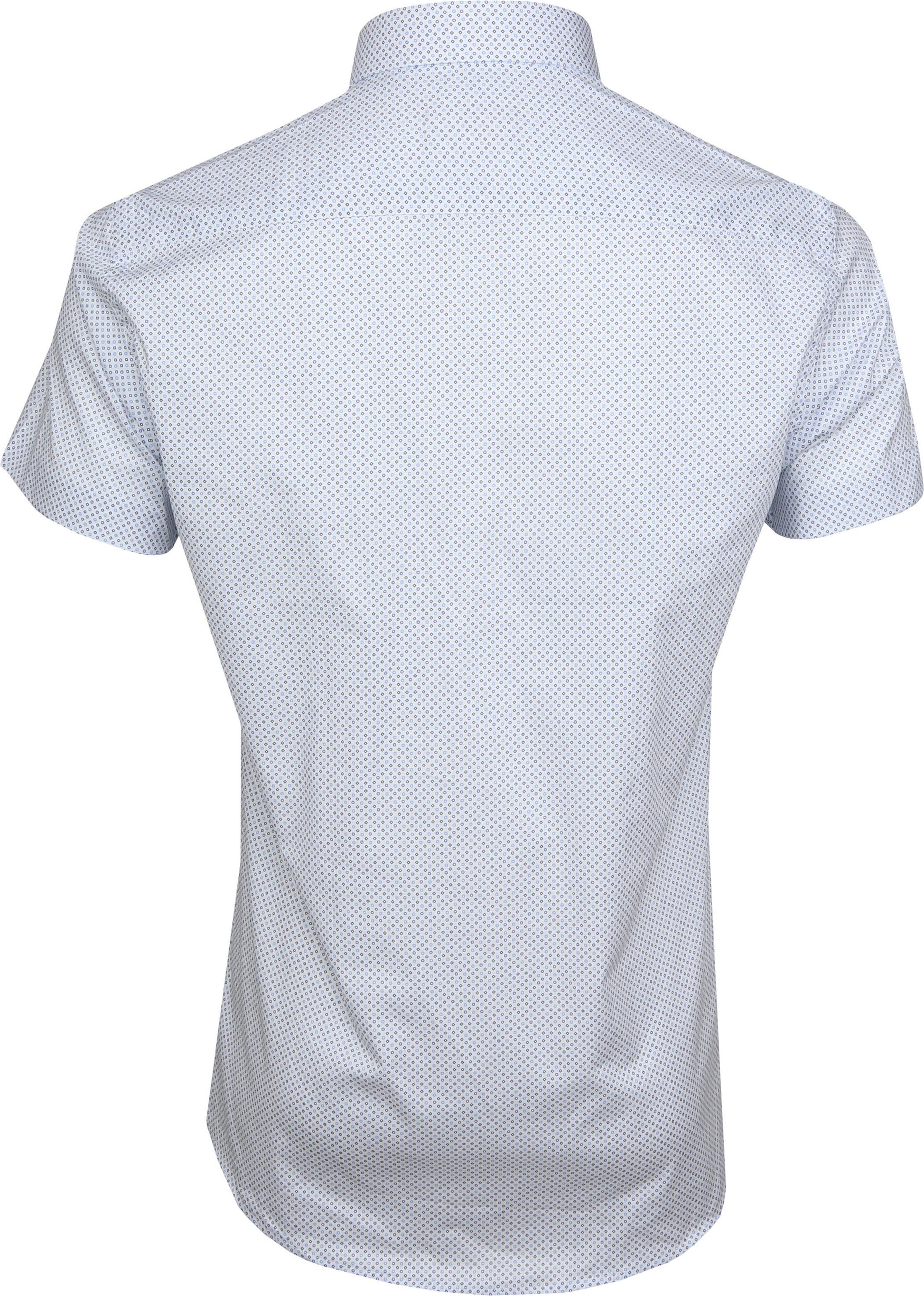 Suitable Shirt SS Carre White Blue foto 3