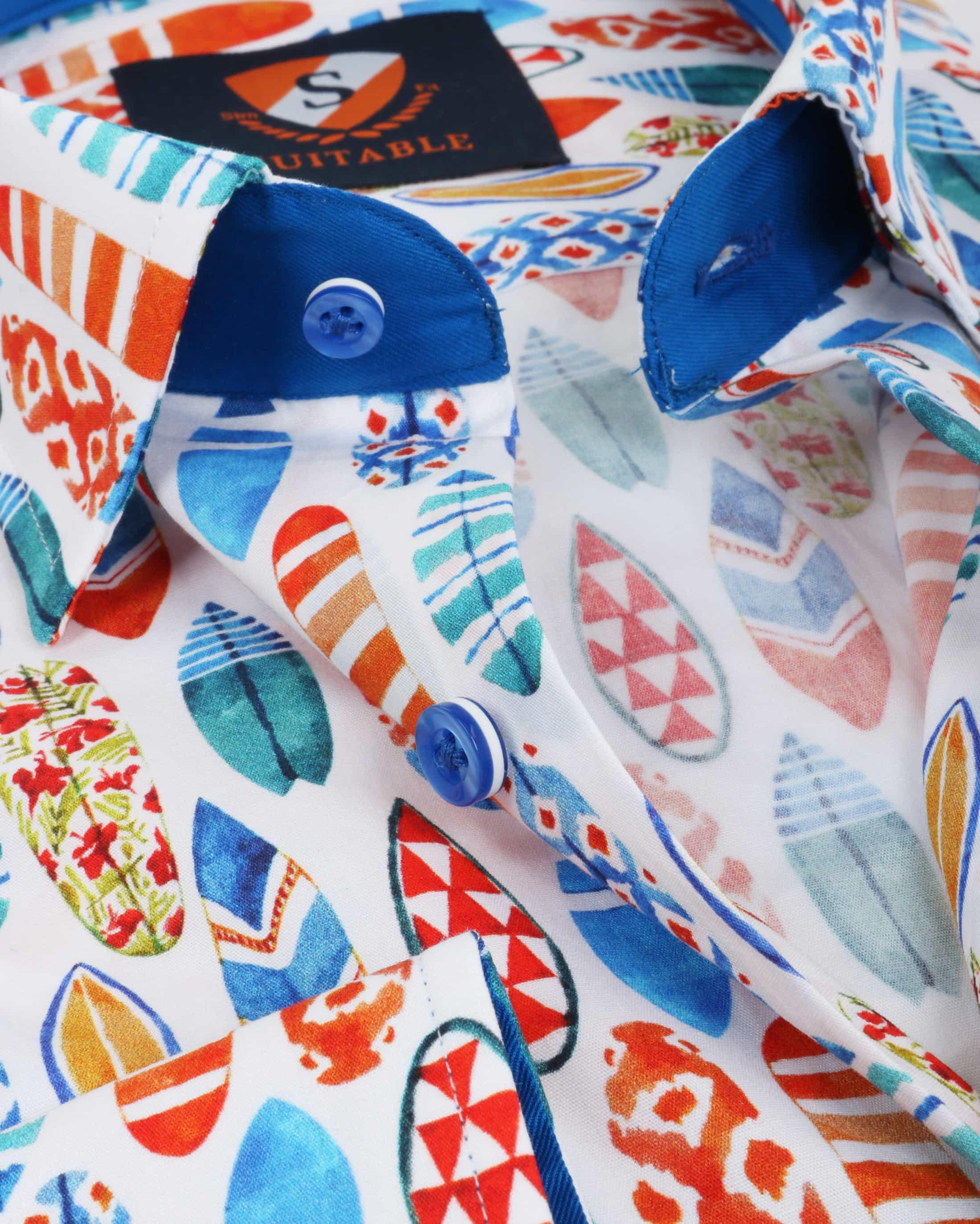 Suitable Shirt Surf Print foto 2