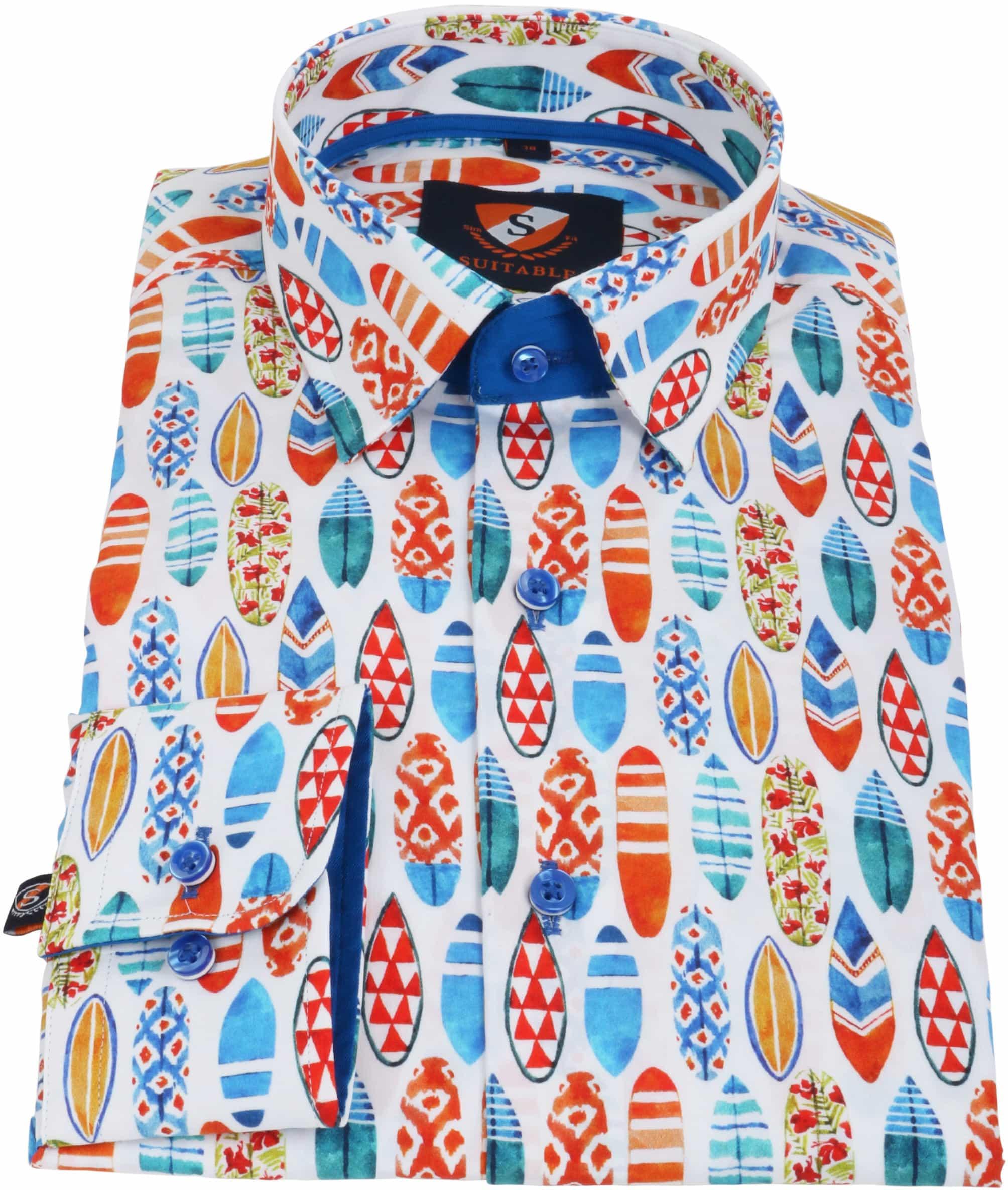Suitable Shirt Surf Print foto 3