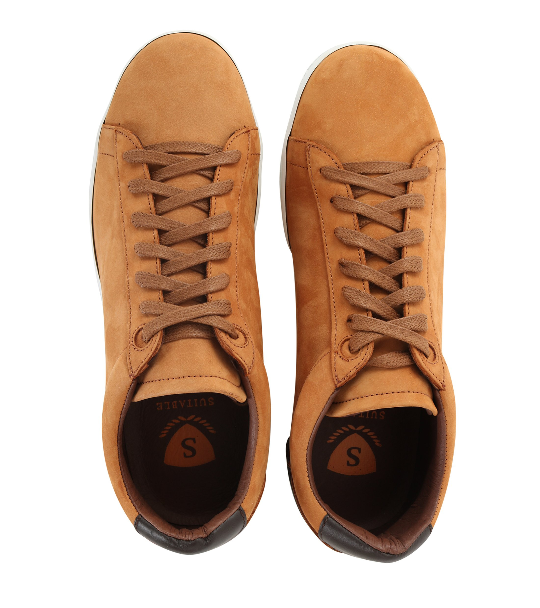 Suitable Sneaker Cognac Nubuk foto 3