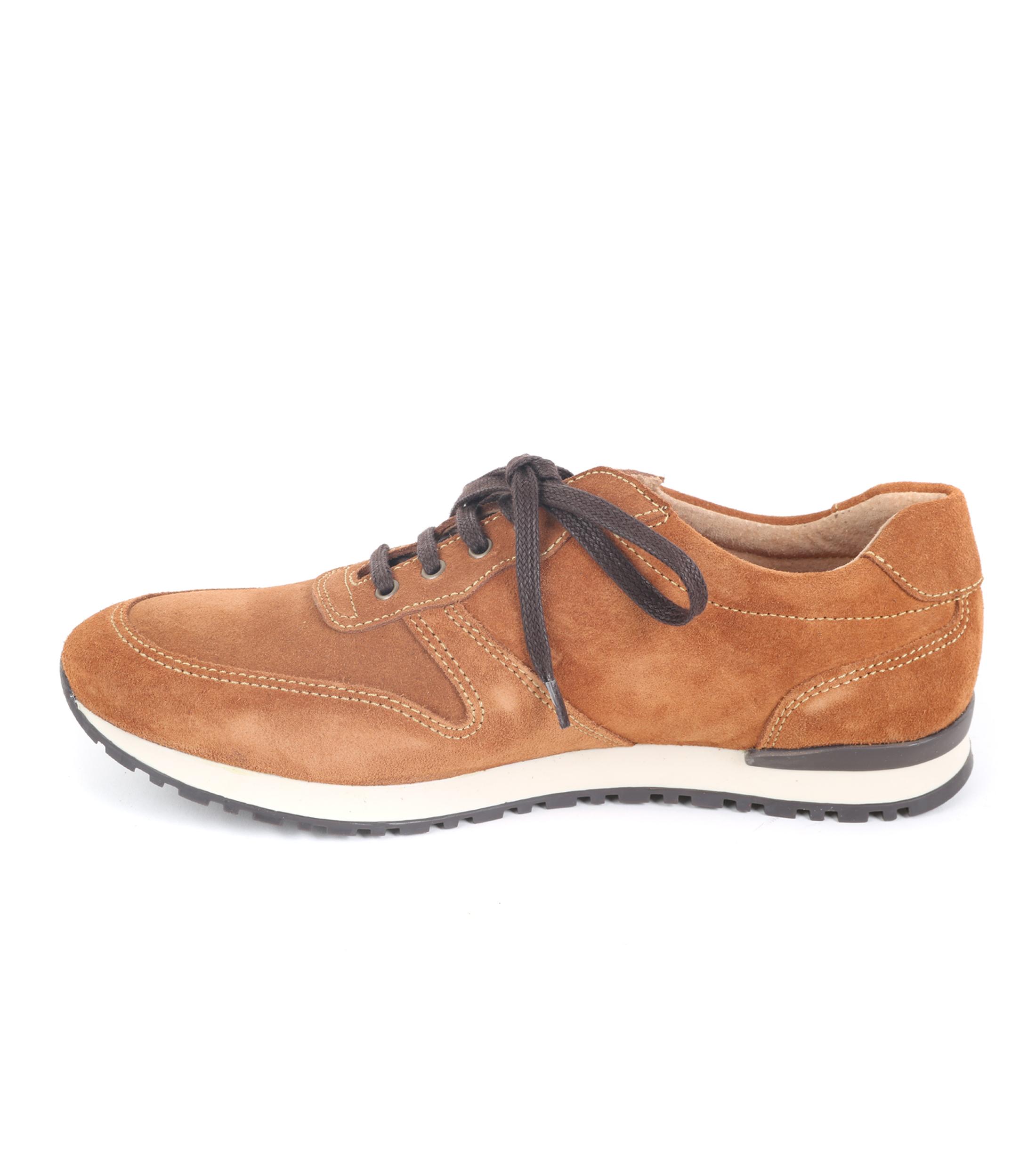 Suitable Sneaker Cognac Suede foto 2