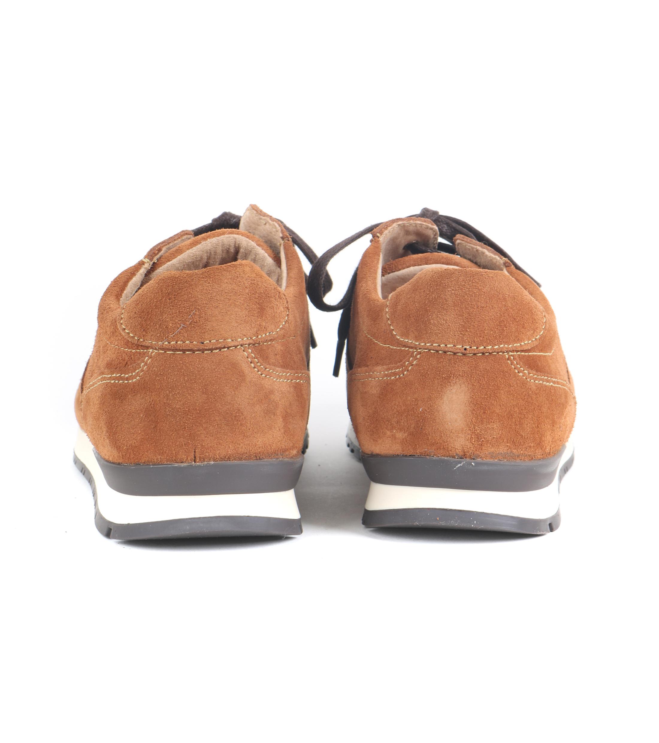 Suitable Sneaker Cognac Suede foto 4