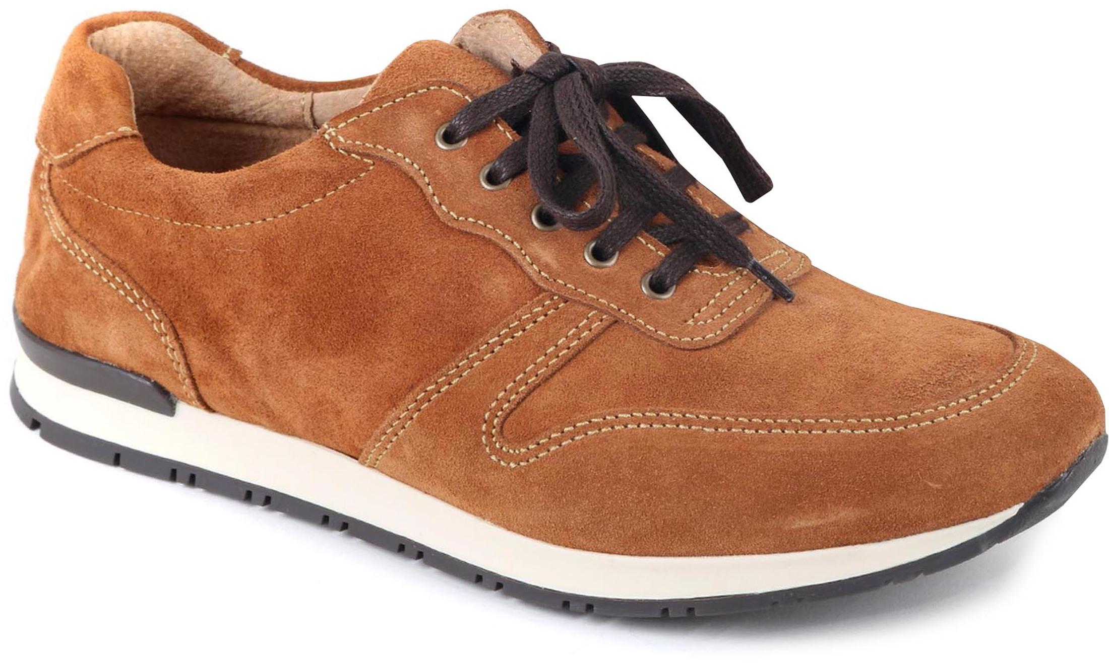 Suitable Sneaker Cognac Suede foto 0