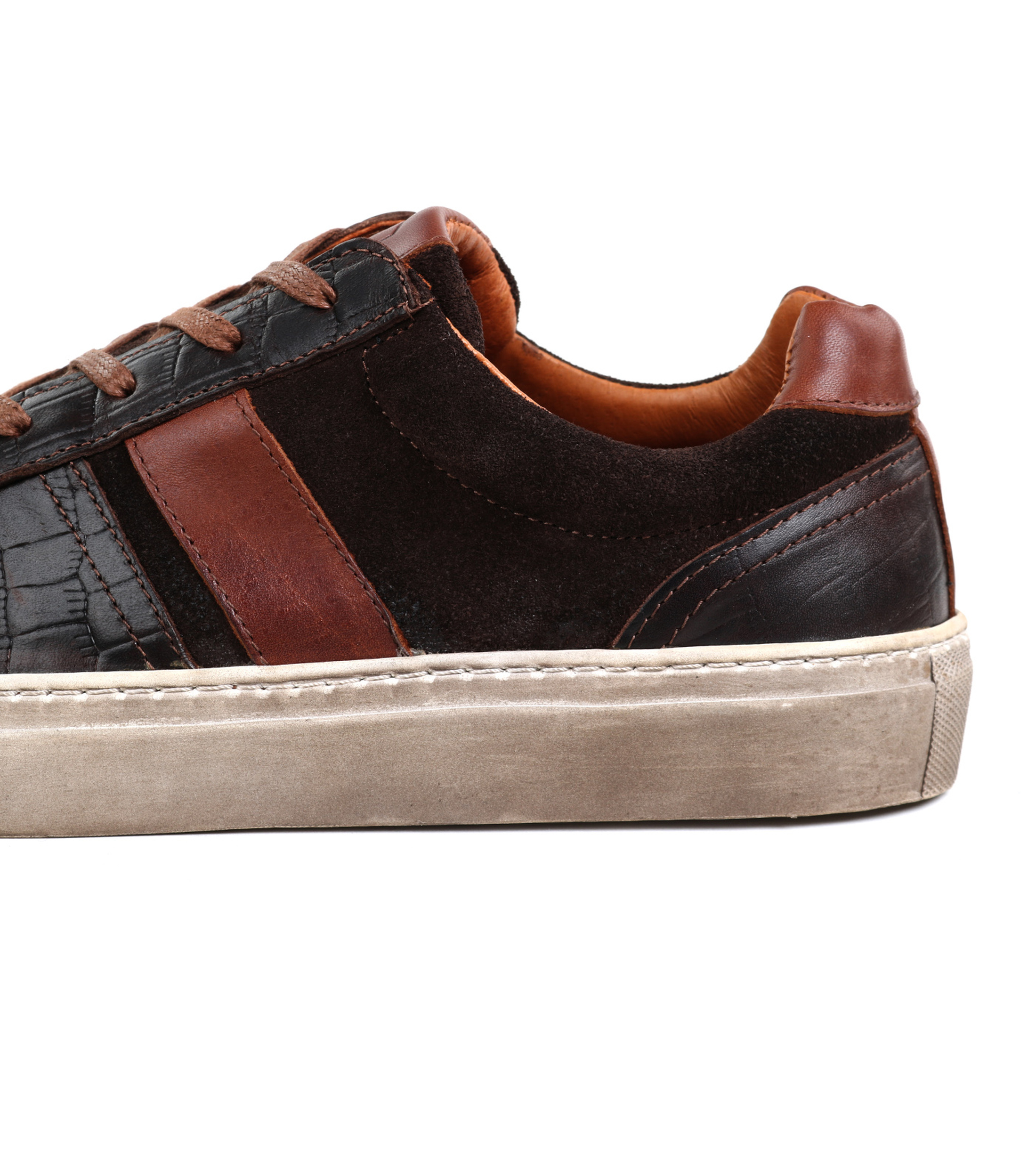 Suitable Sneaker Croco Brown foto 2
