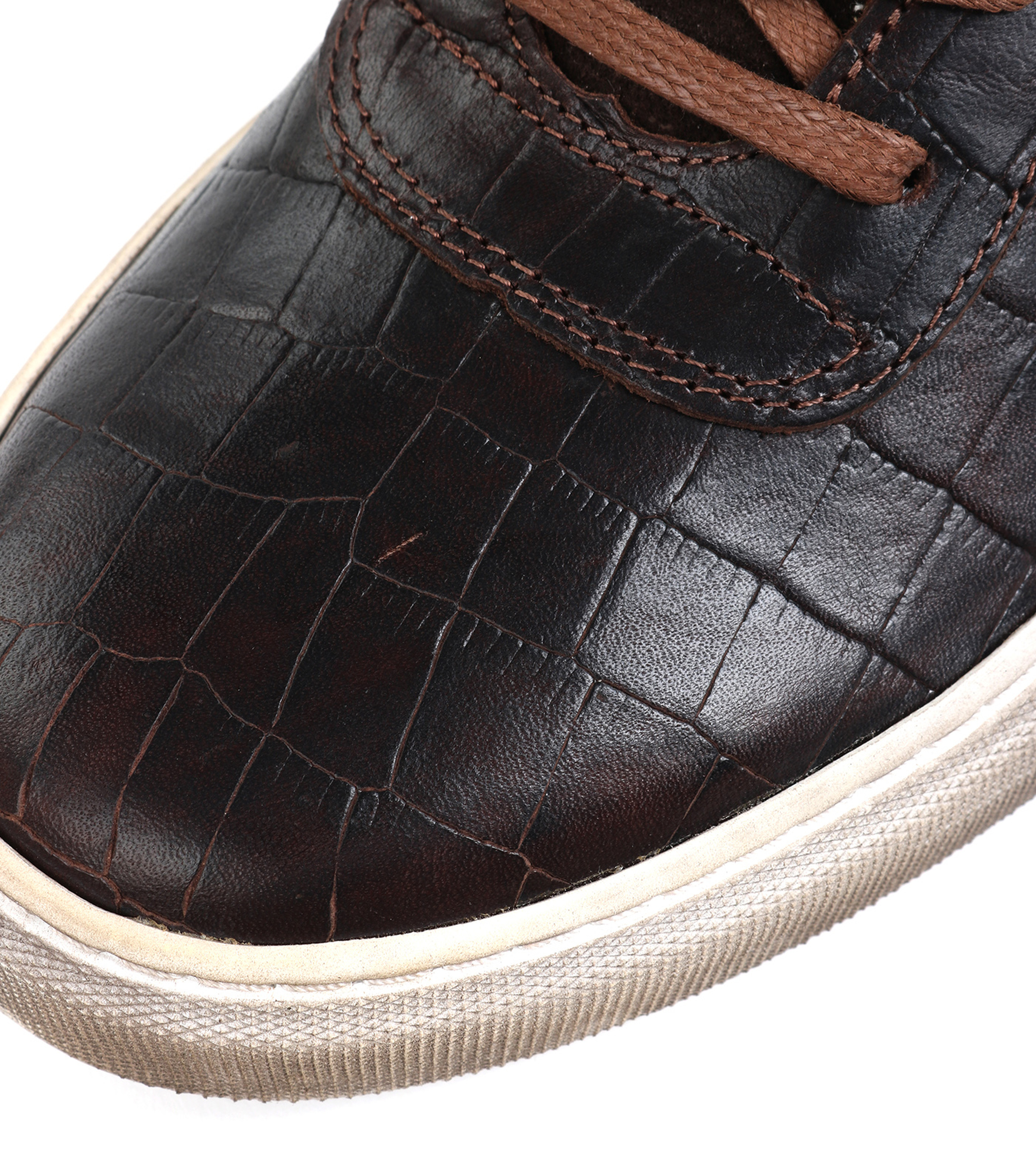 Suitable Sneaker Croco Brown foto 6