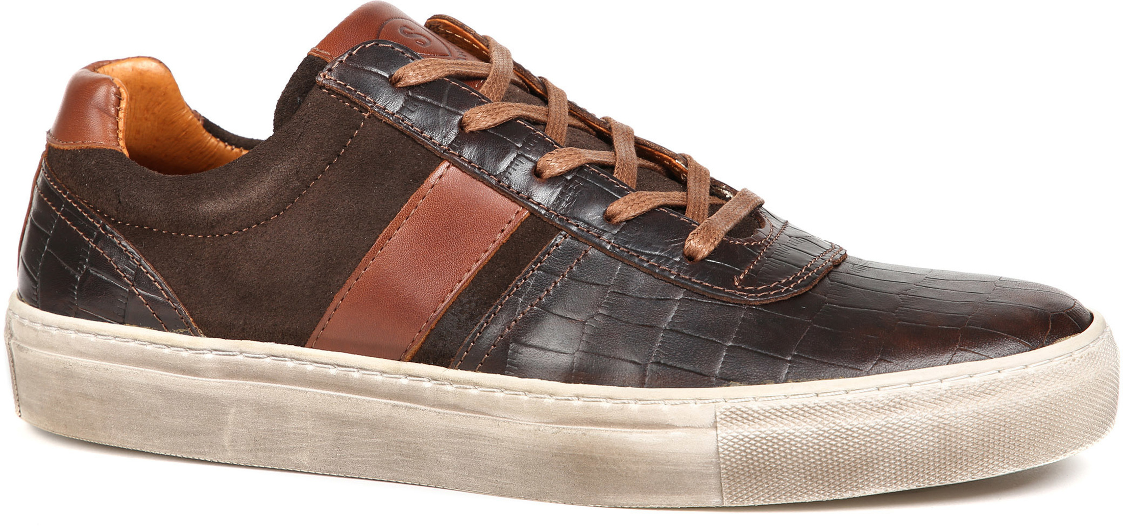 Suitable Sneaker Croco Bruin foto 0