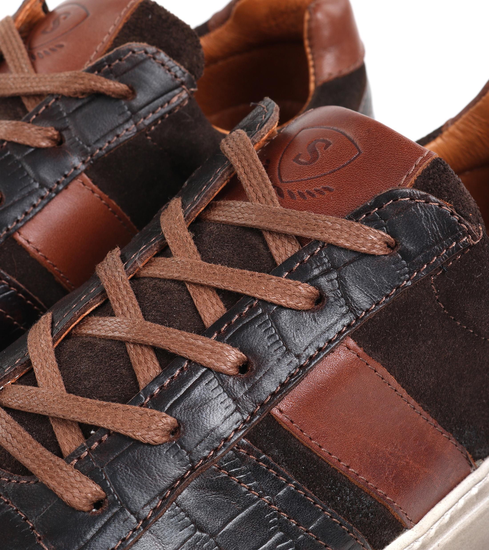 Suitable Sneaker Croco Bruin foto 1