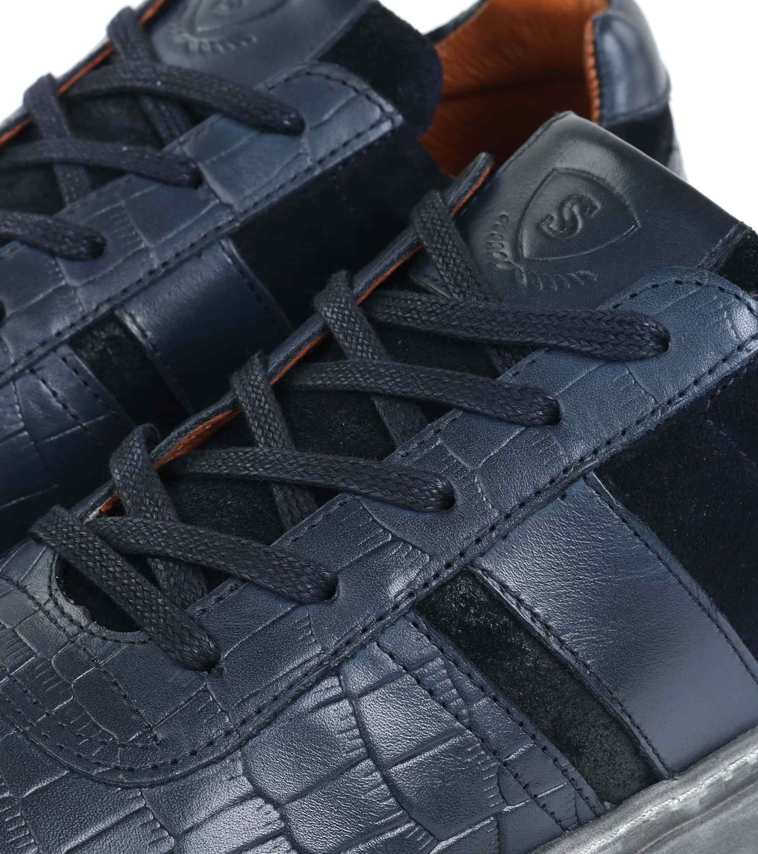 Suitable Sneaker Croco Dunkelblau foto 1