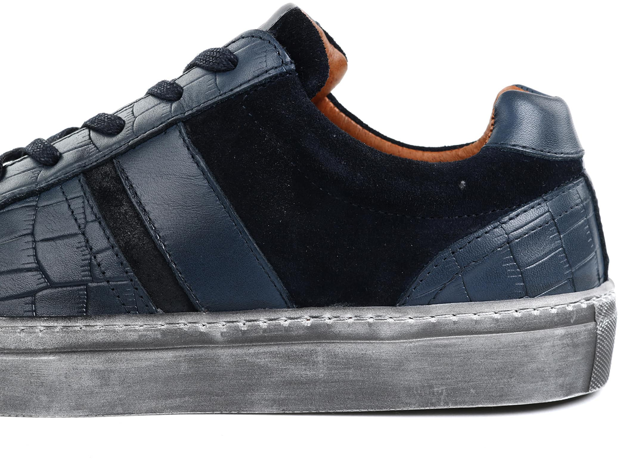 Suitable Sneaker Croco Dunkelblau foto 2