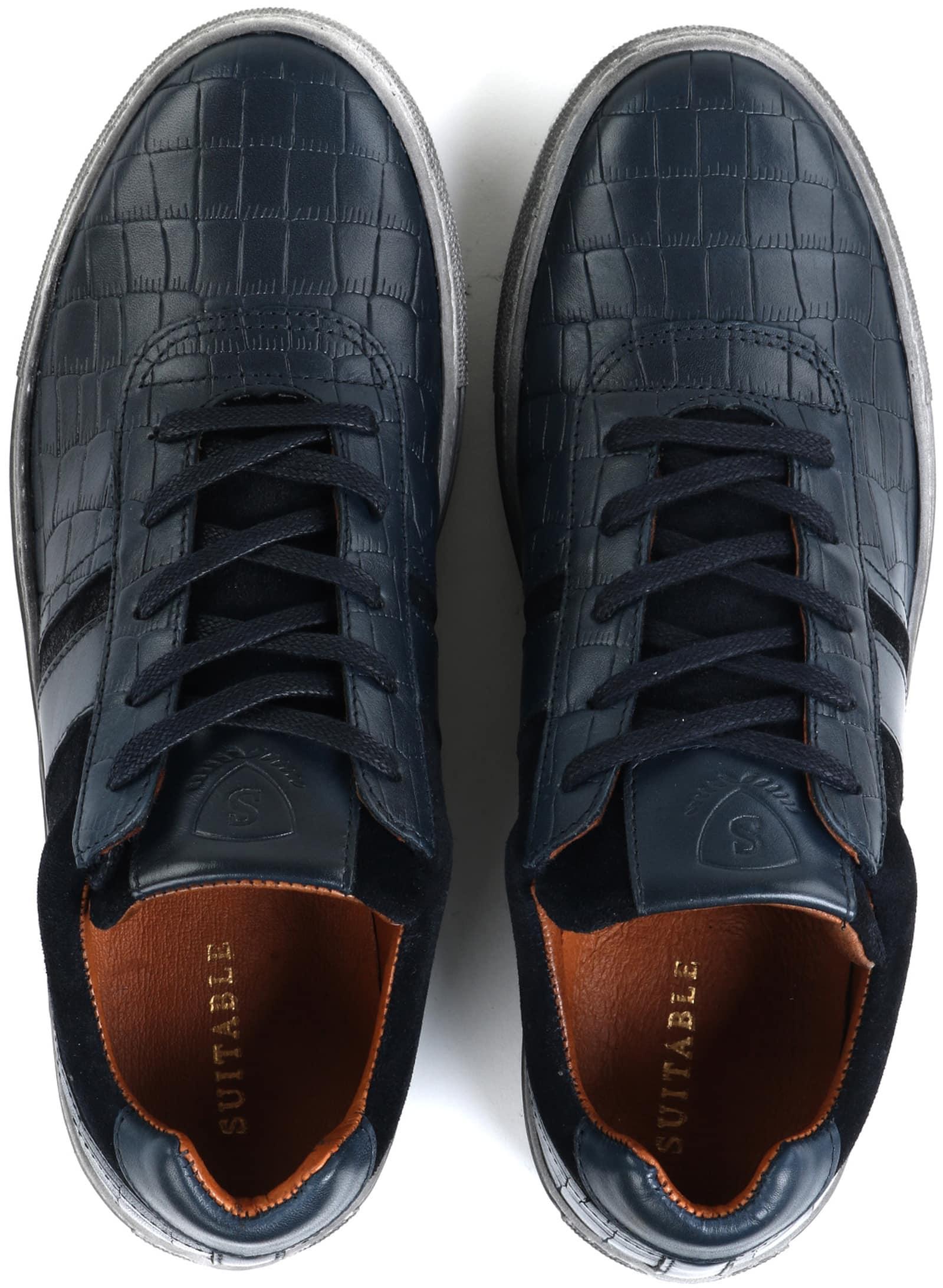 Suitable Sneaker Croco Dunkelblau foto 6