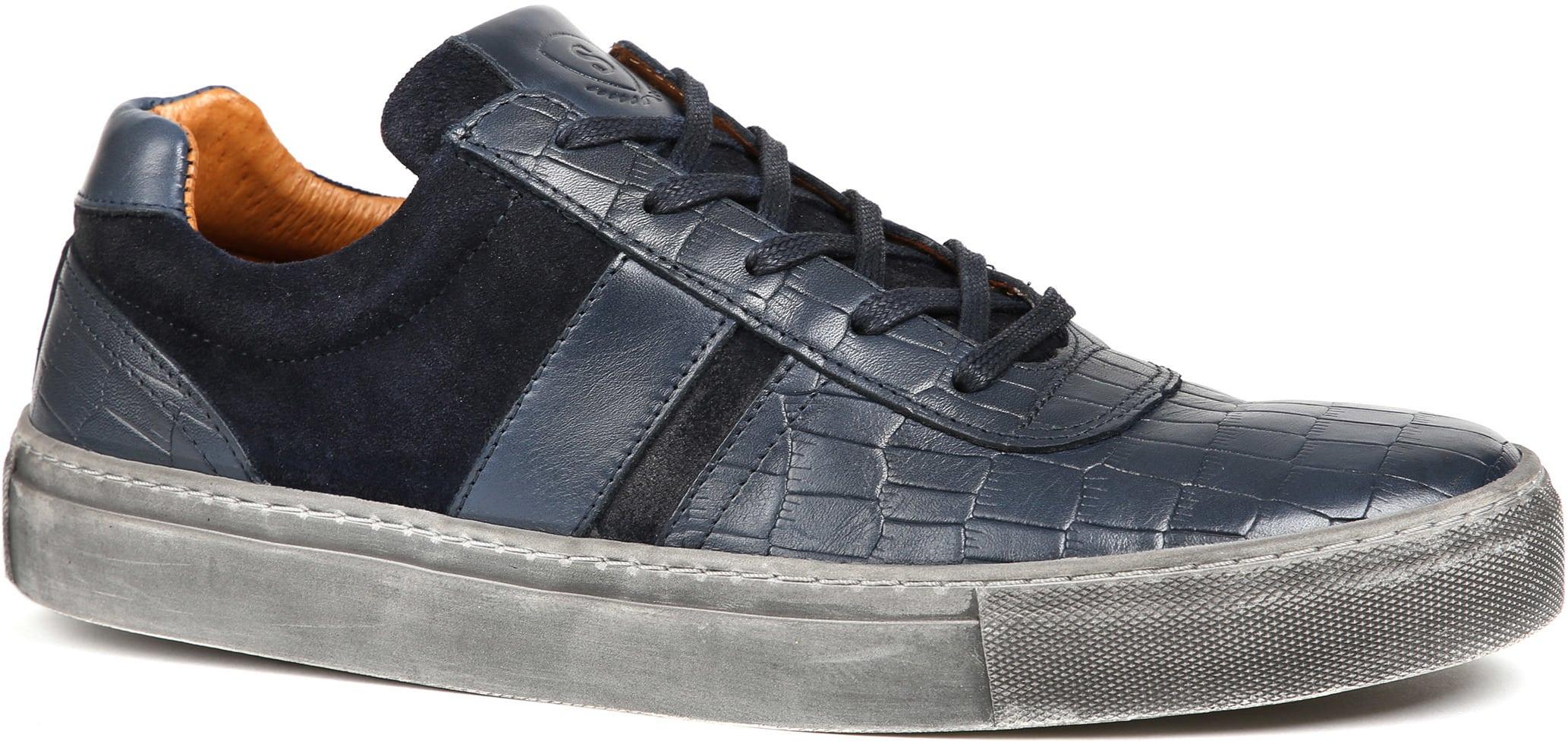 Suitable Sneaker Croco Dunkelblau foto 0