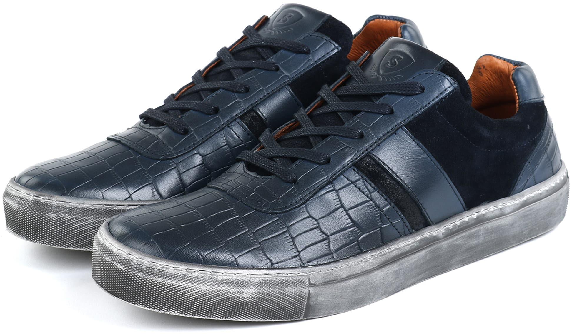 Suitable Sneaker Croco Navy foto 4