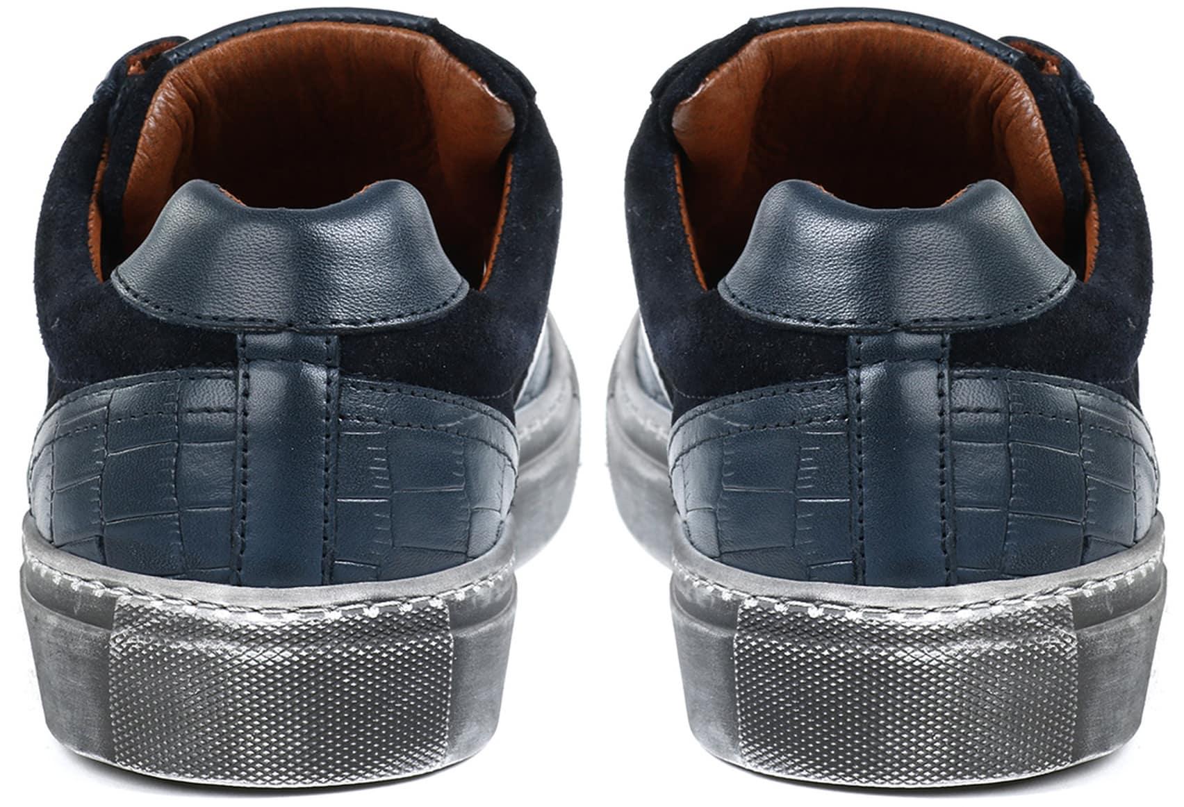 Suitable Sneaker Croco Navy foto 5