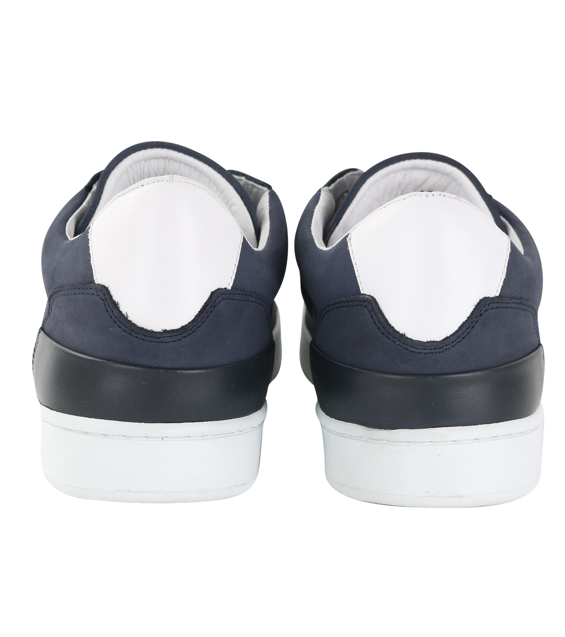 Suitable Sneaker Donkerblauw Nubuck foto 2