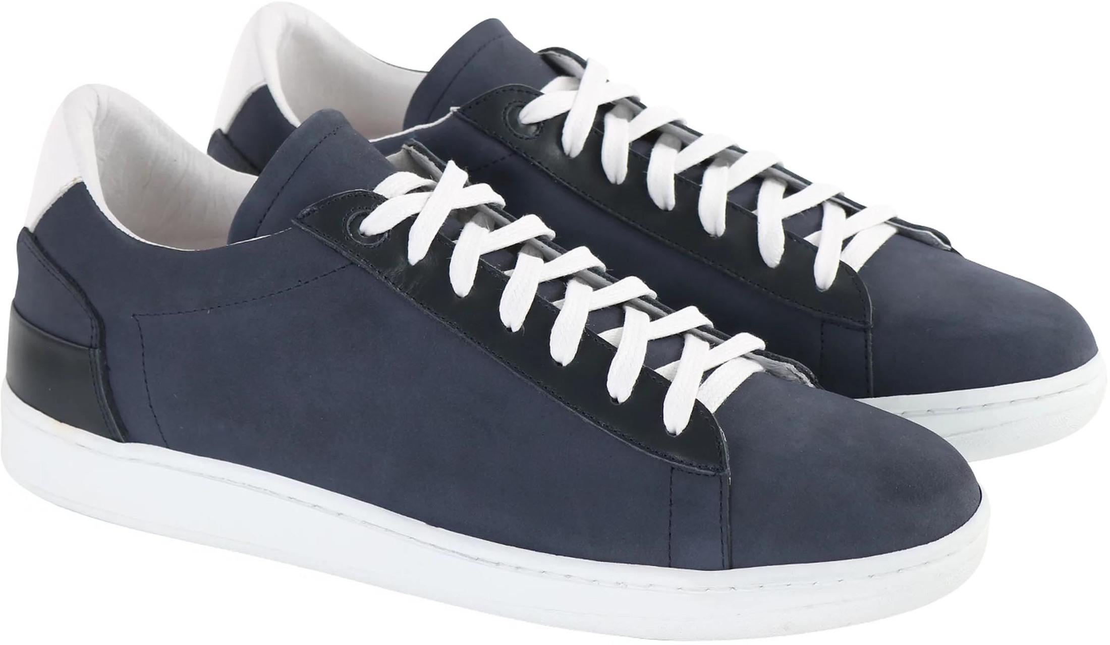 Suitable Sneaker Donkerblauw Nubuck foto 5