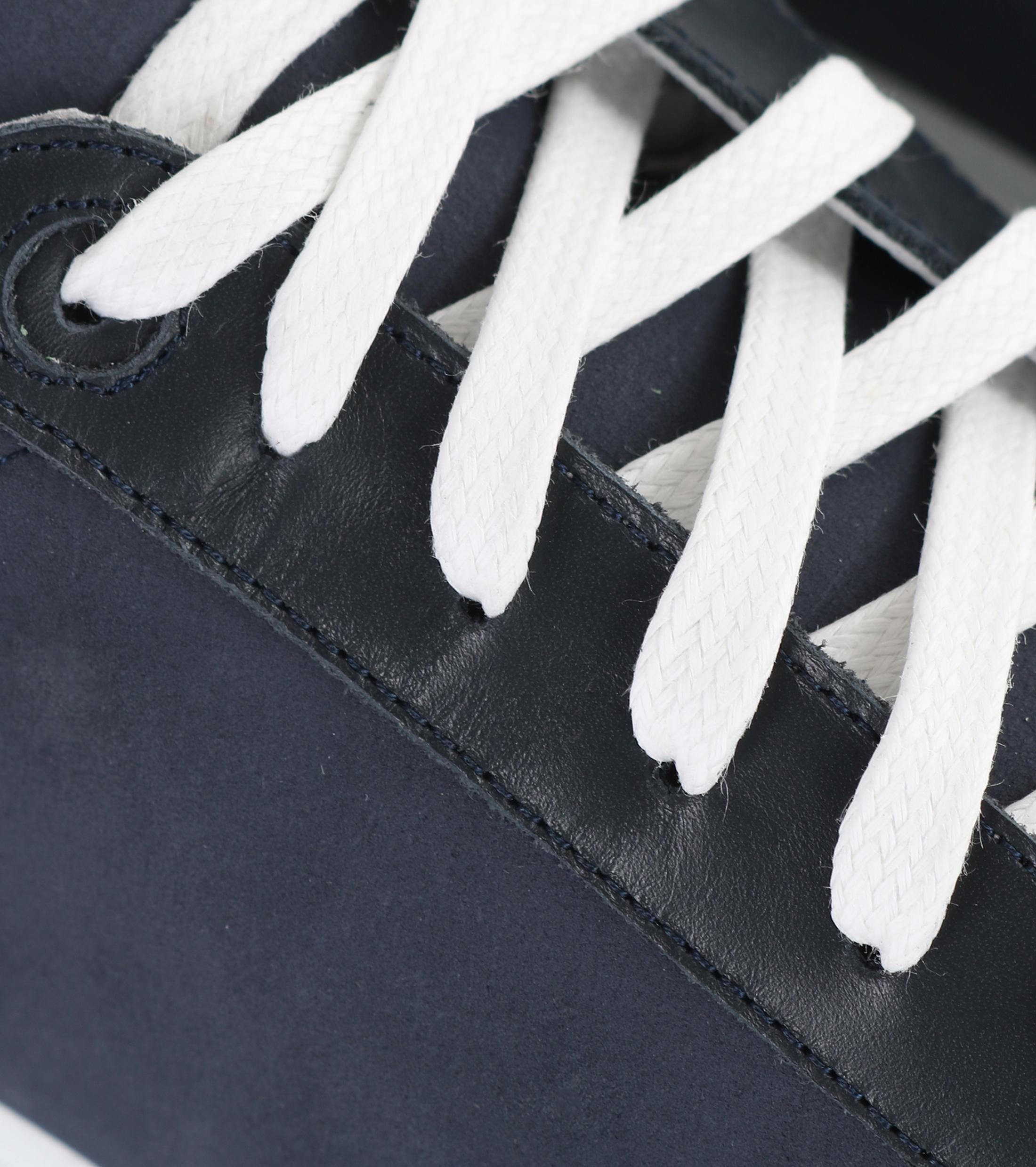 Suitable Sneaker Donkerblauw Nubuck foto 1