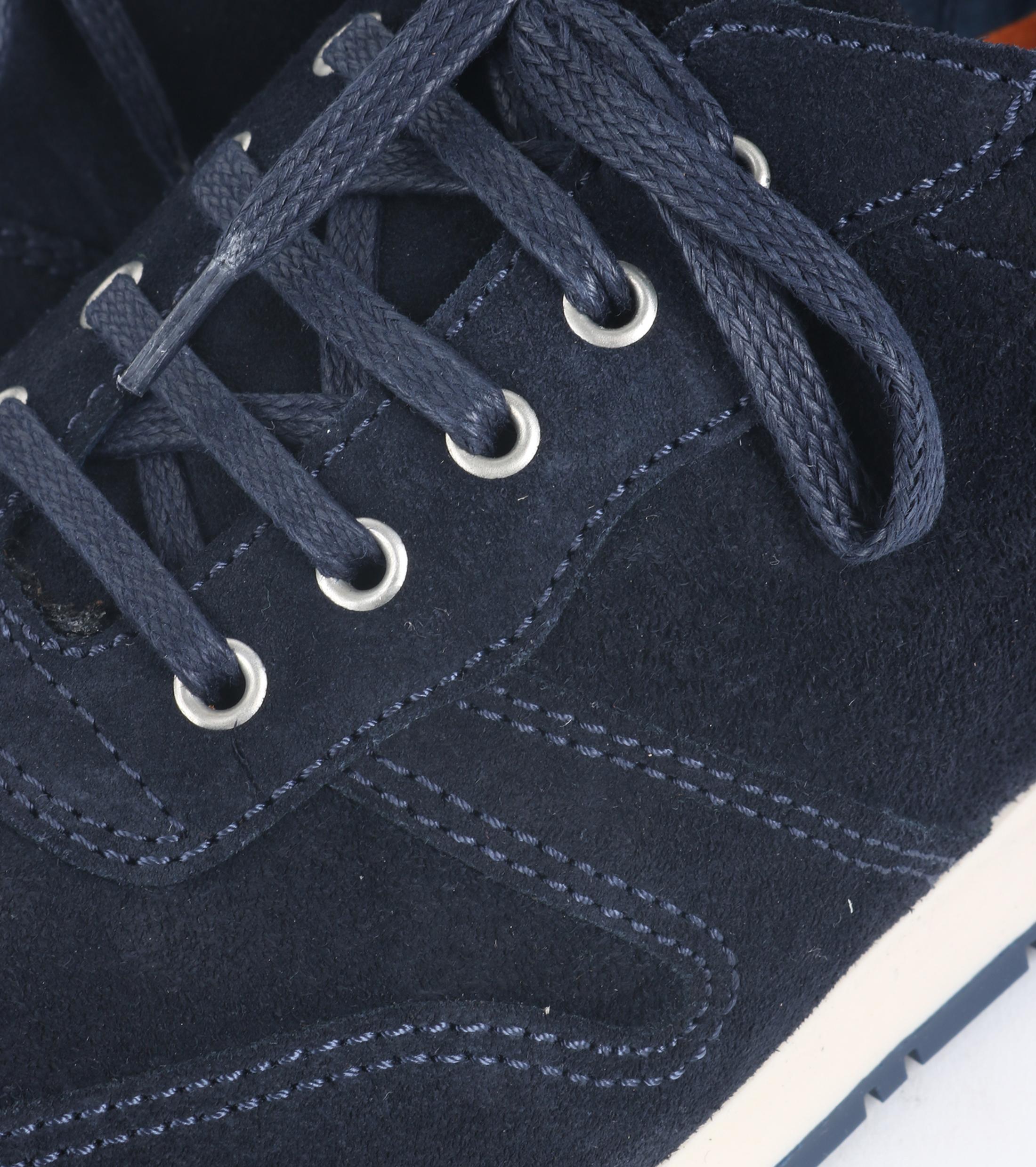 Suitable Sneaker Donkerblauw Suede foto 1