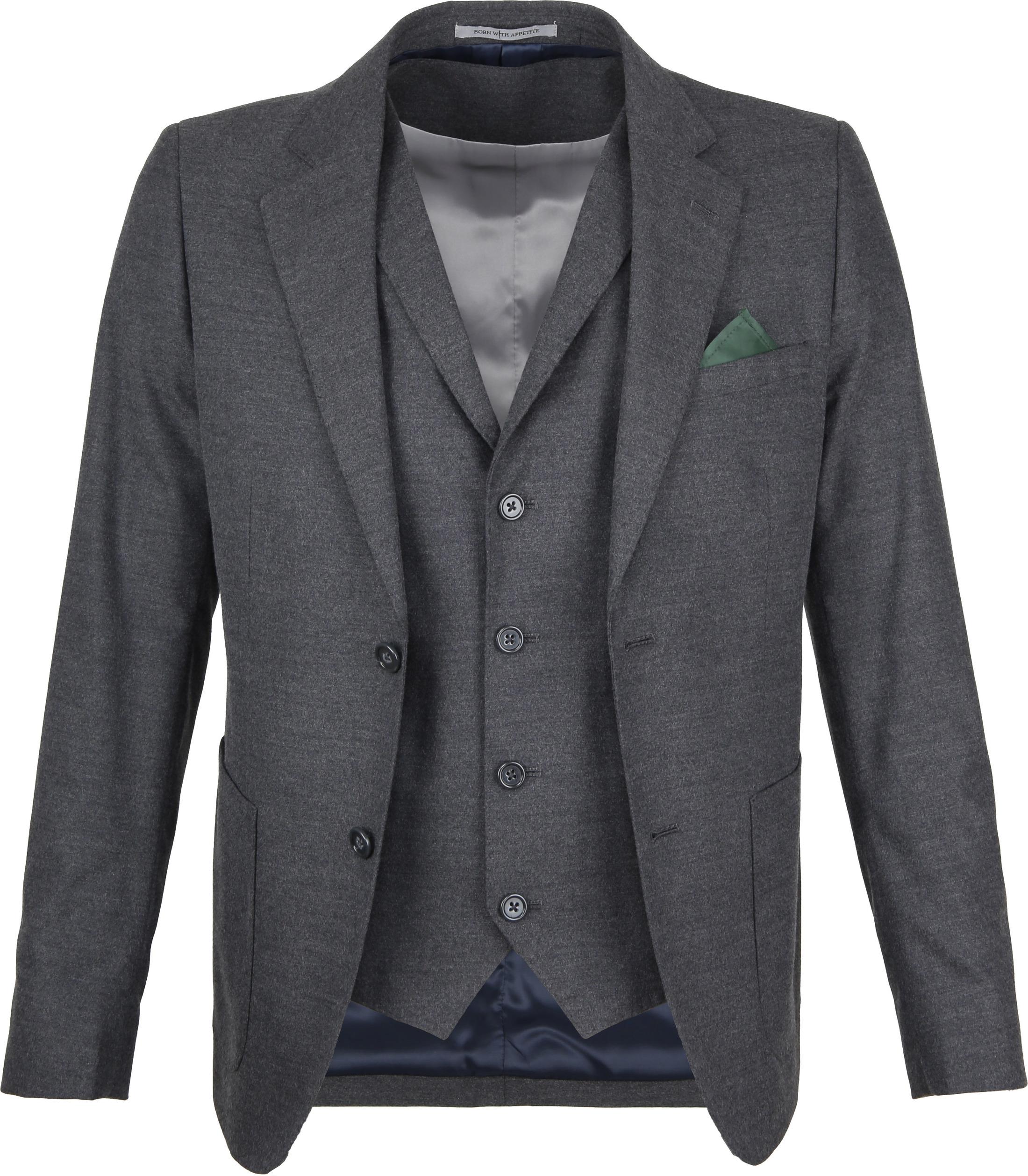 Suitable Sneaker Suit Flannel Grijs 3D foto 1