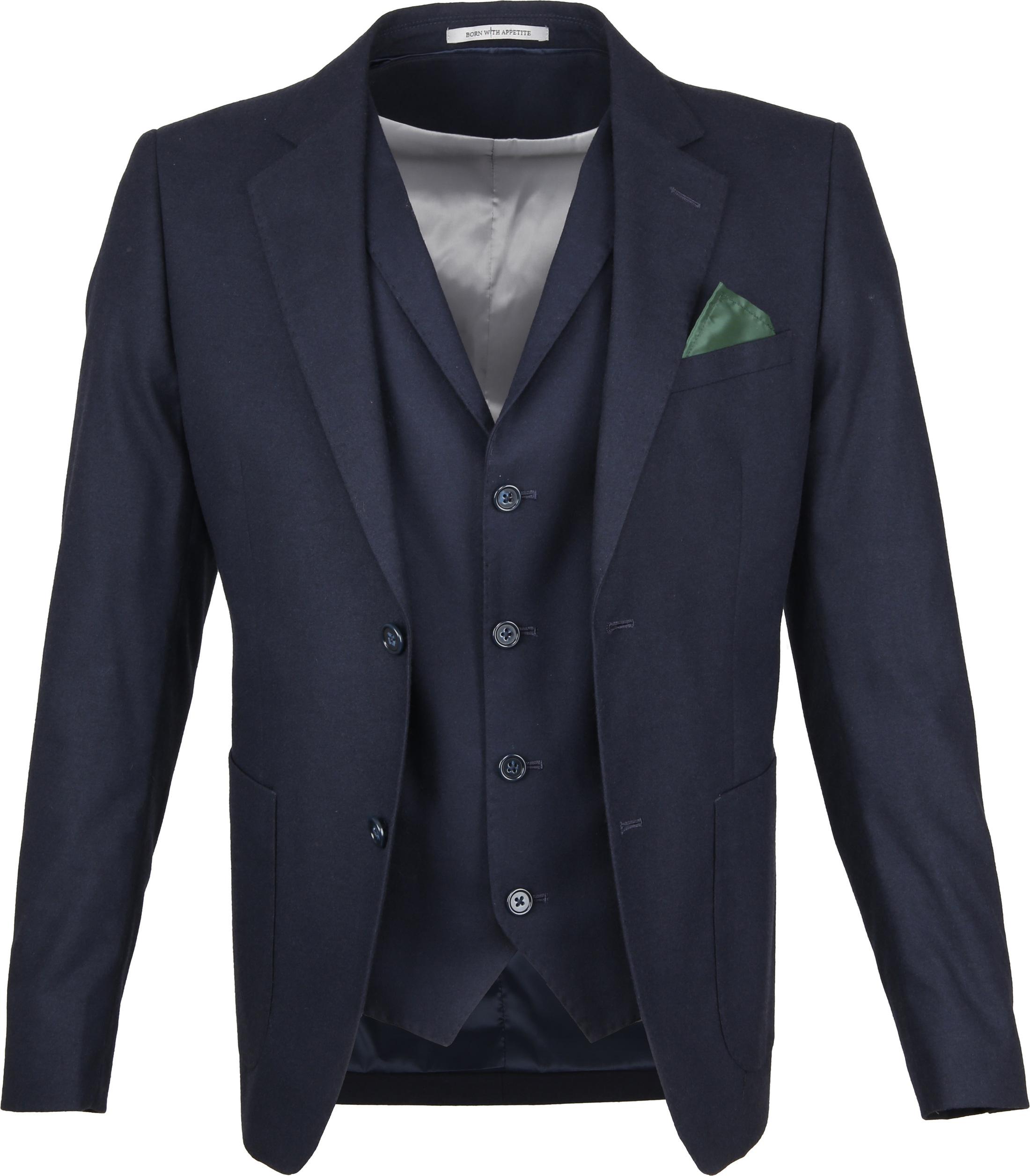 Suitable Sneaker Suit Flannel Navy 3D foto 0