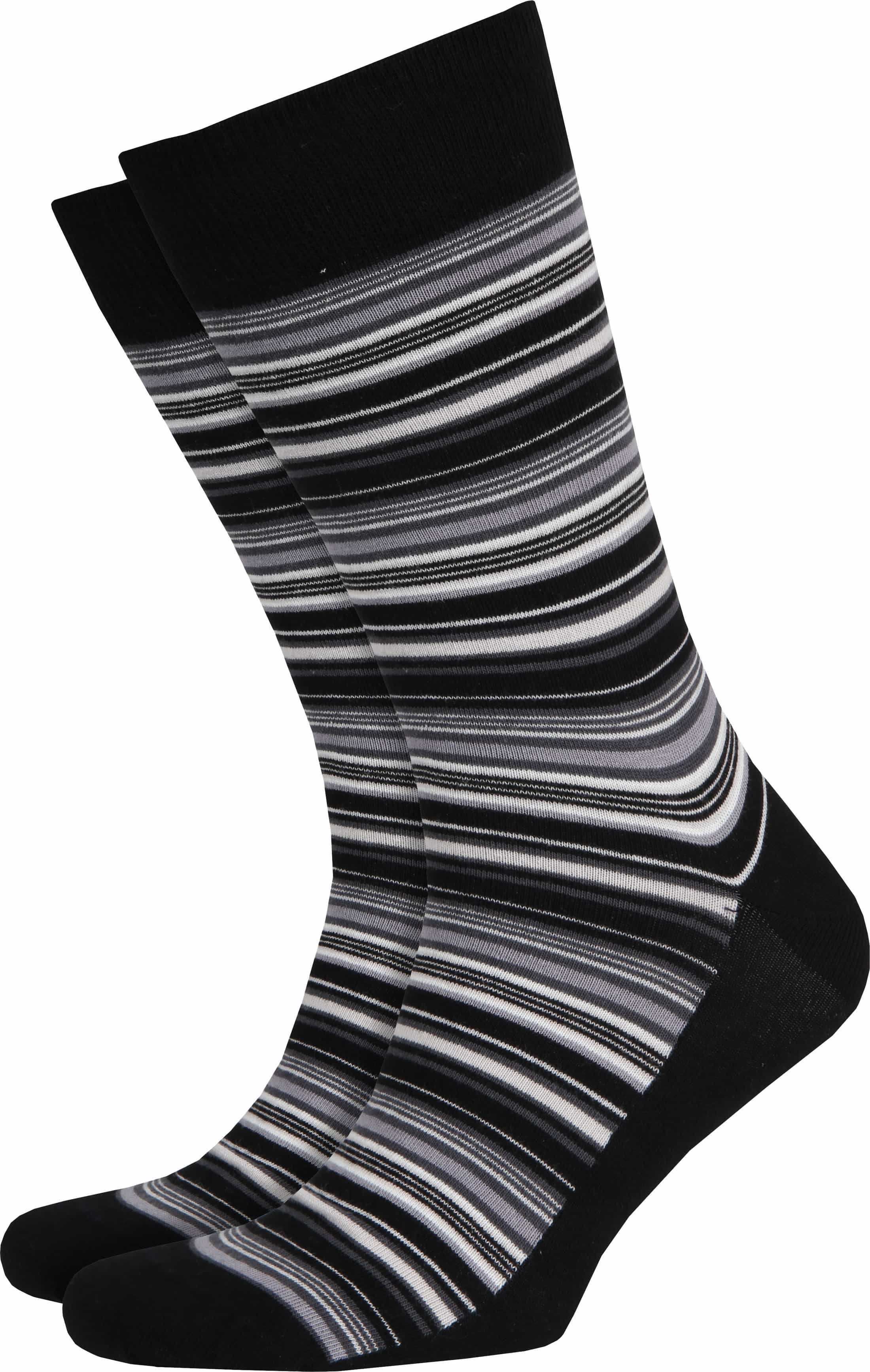 Suitable Socken Grau Streifen foto 0