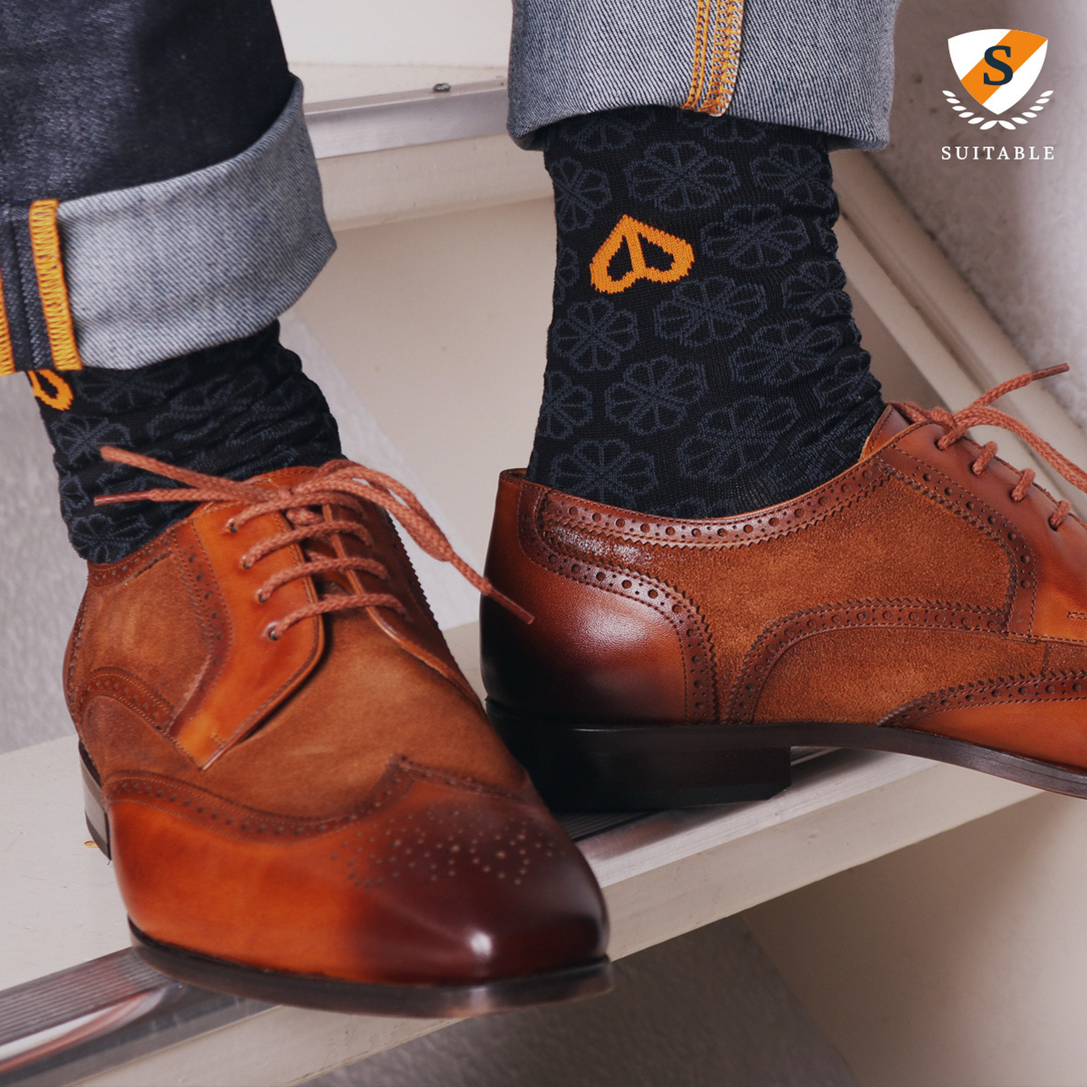 Suitable Socken KWF Schwarz foto 3
