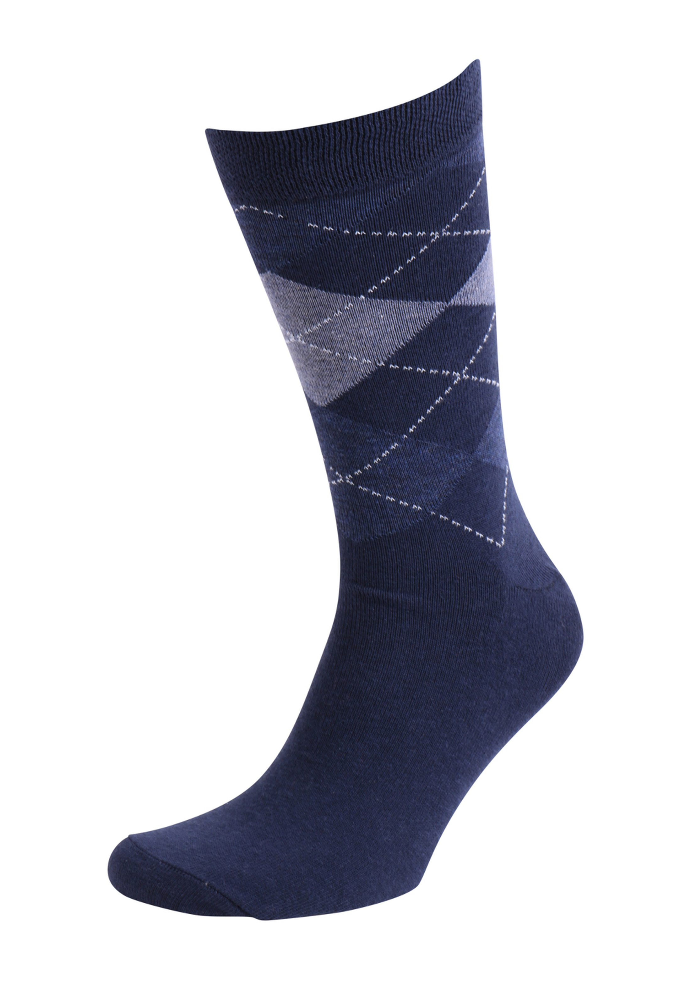 Suitable Socks Check Navy foto 0