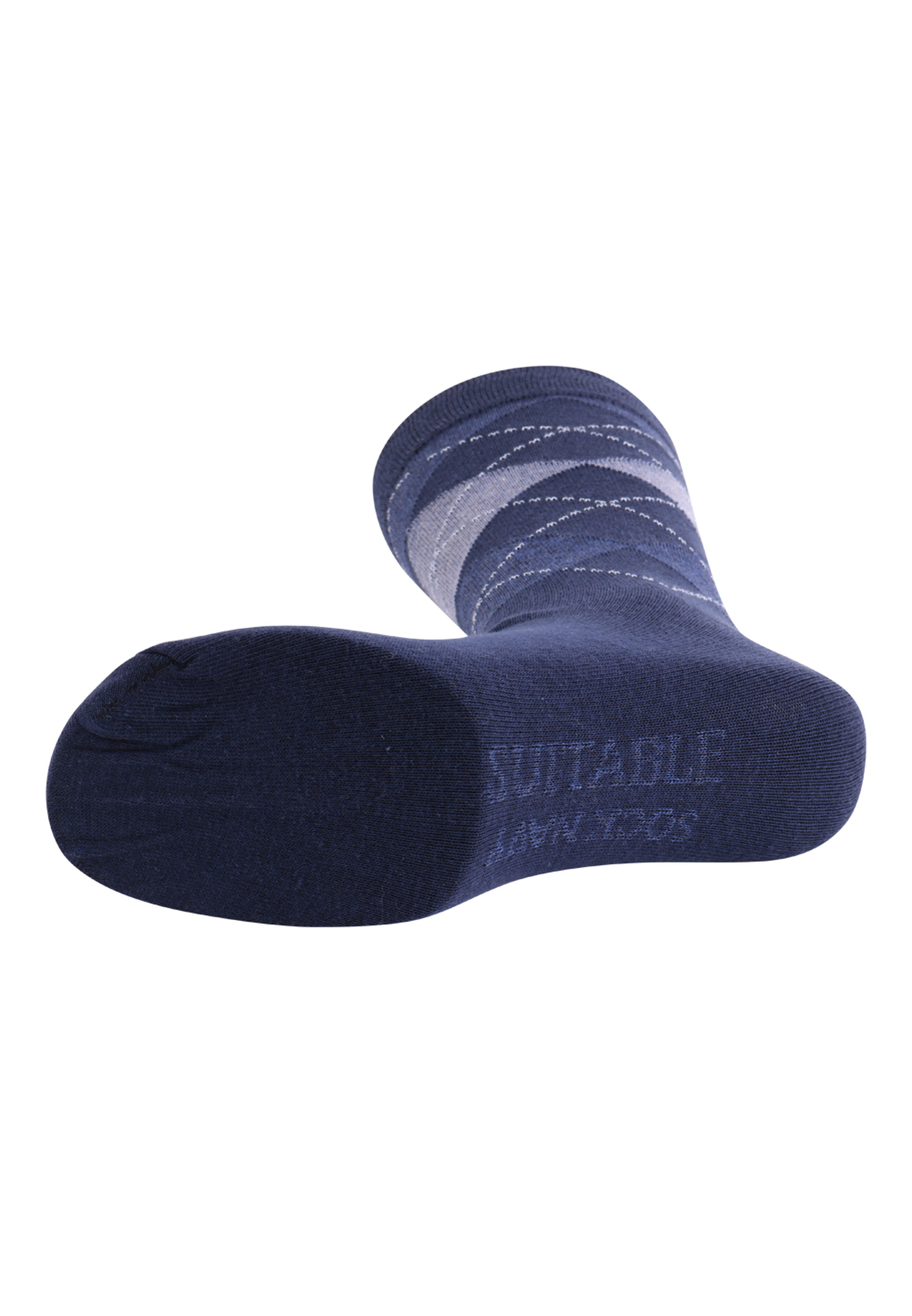 Suitable Socks Check Navy foto 1