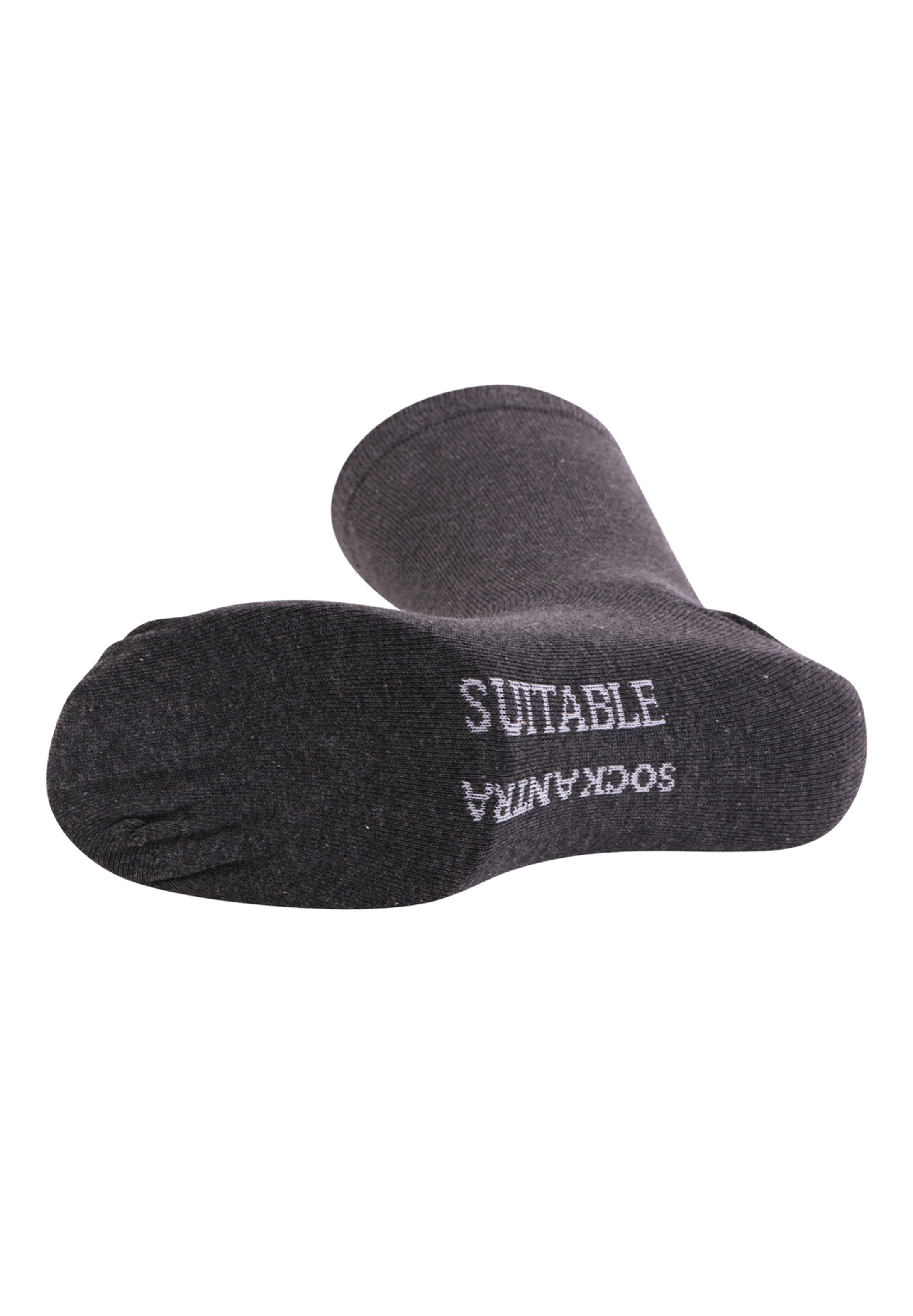 Suitable Socks Dark Grey Mellee foto 1