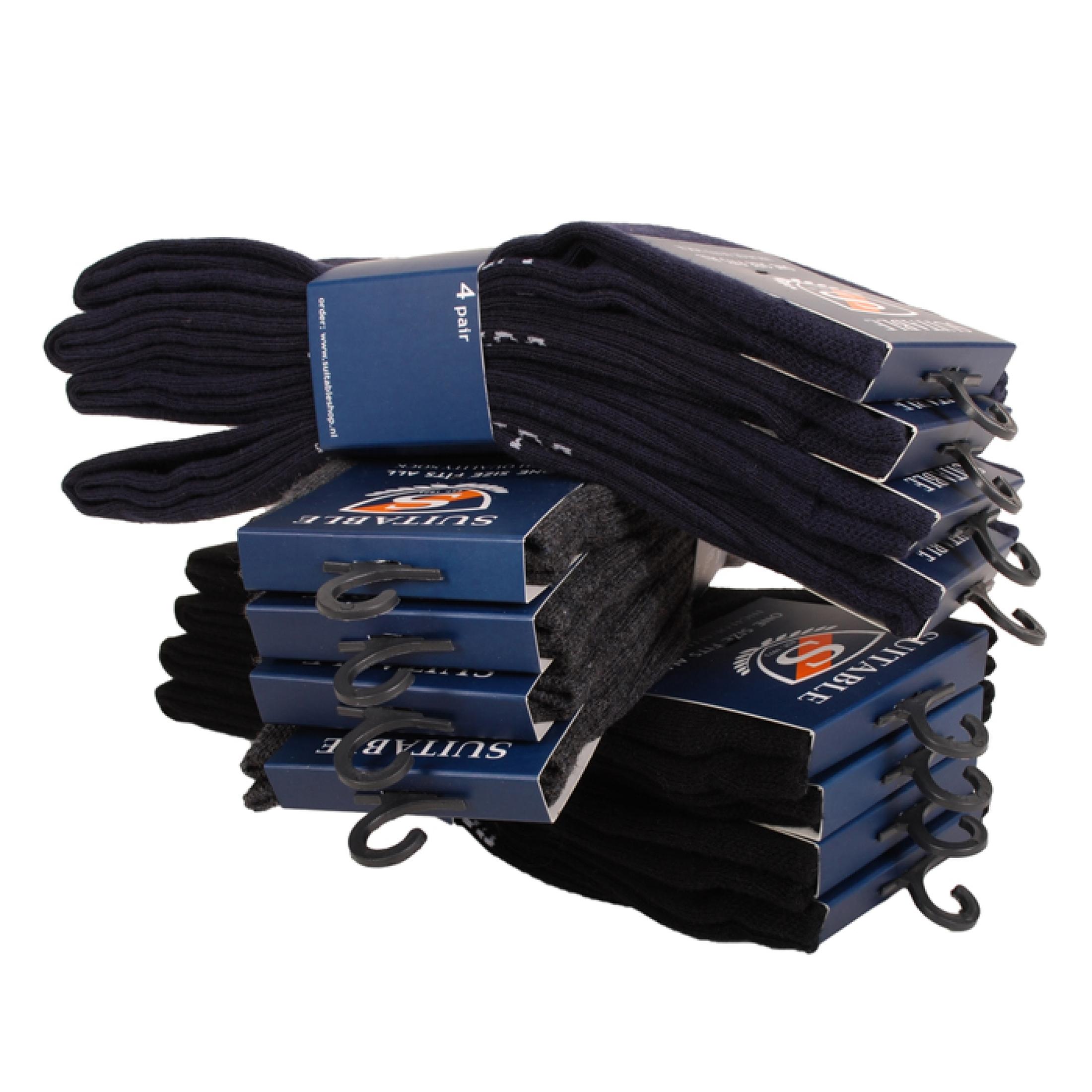 Suitable Sokken Zwart 8-Pack foto 2