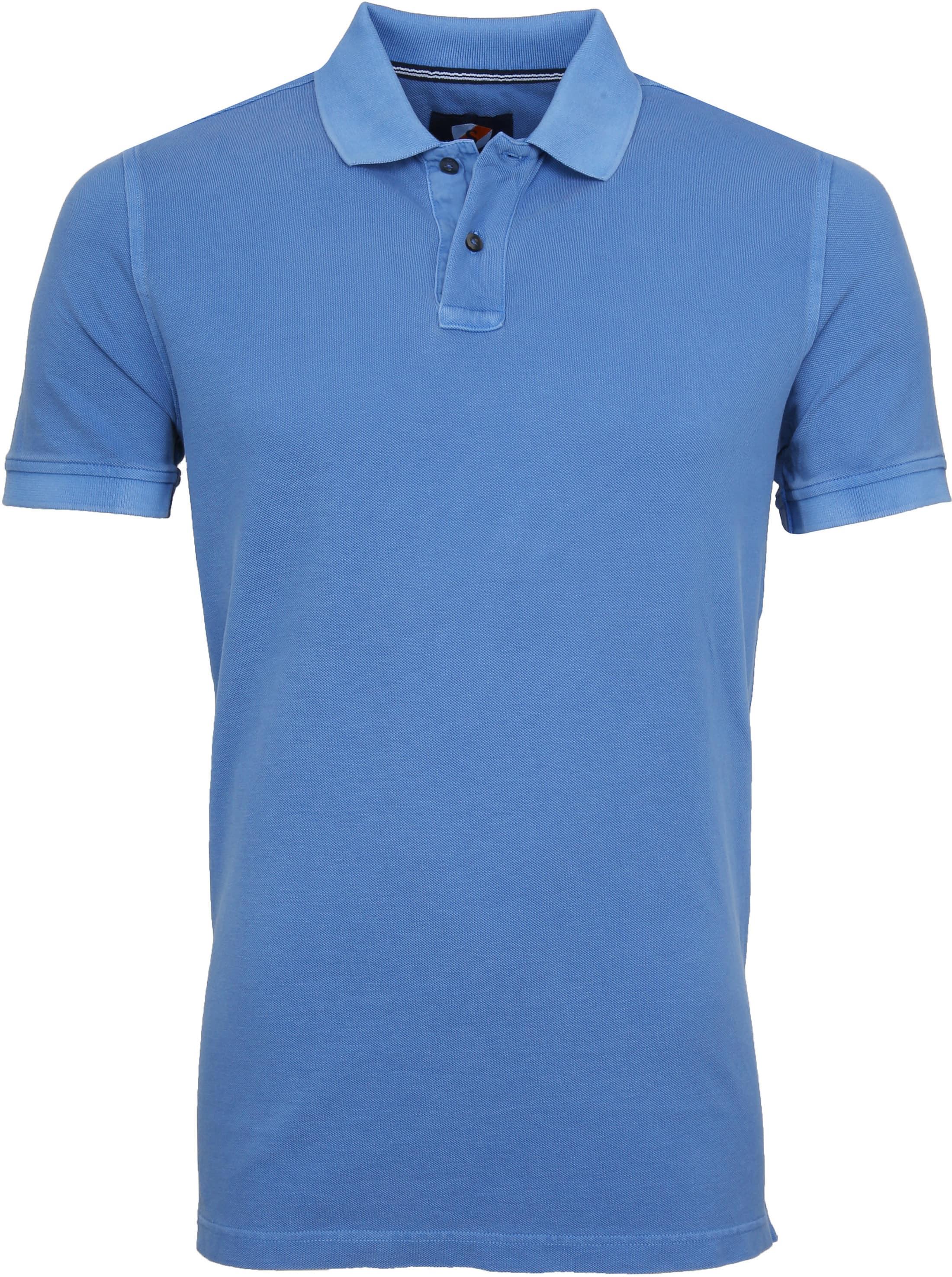 Suitable Stone Wash Poloshirt Blue foto 0