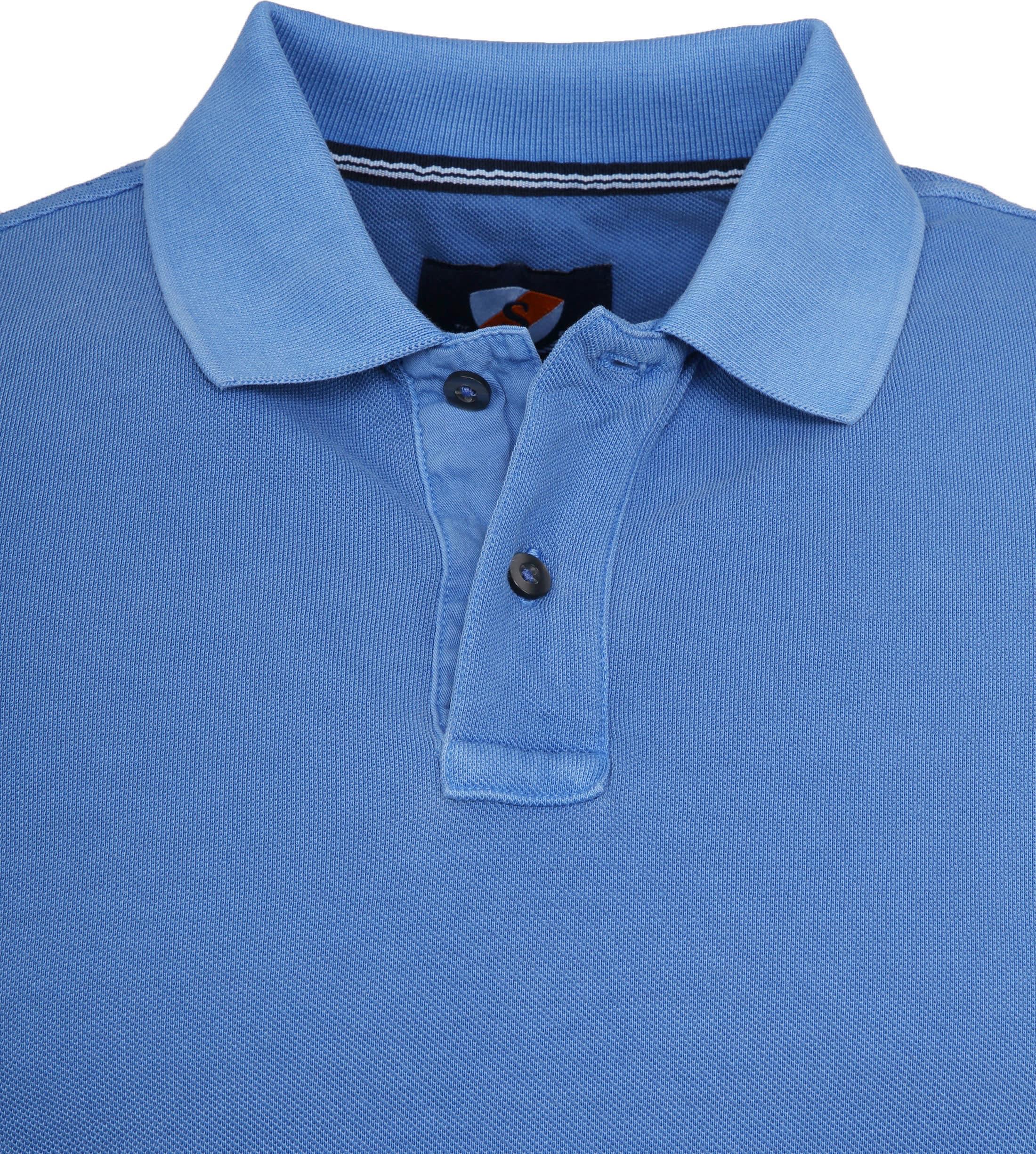 Suitable Stone Wash Poloshirt Blue foto 1