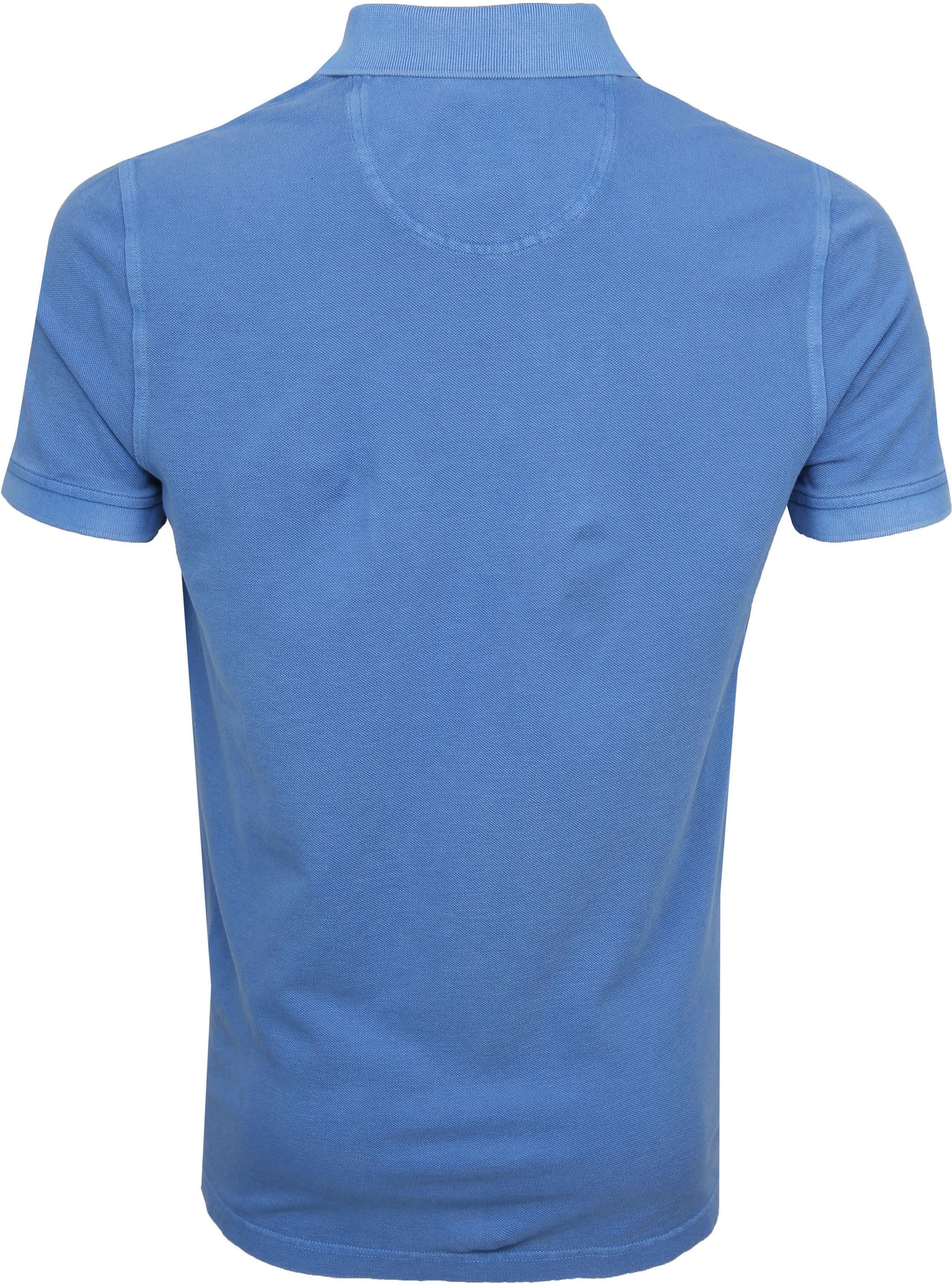 Suitable Stone Wash Poloshirt Blue foto 3