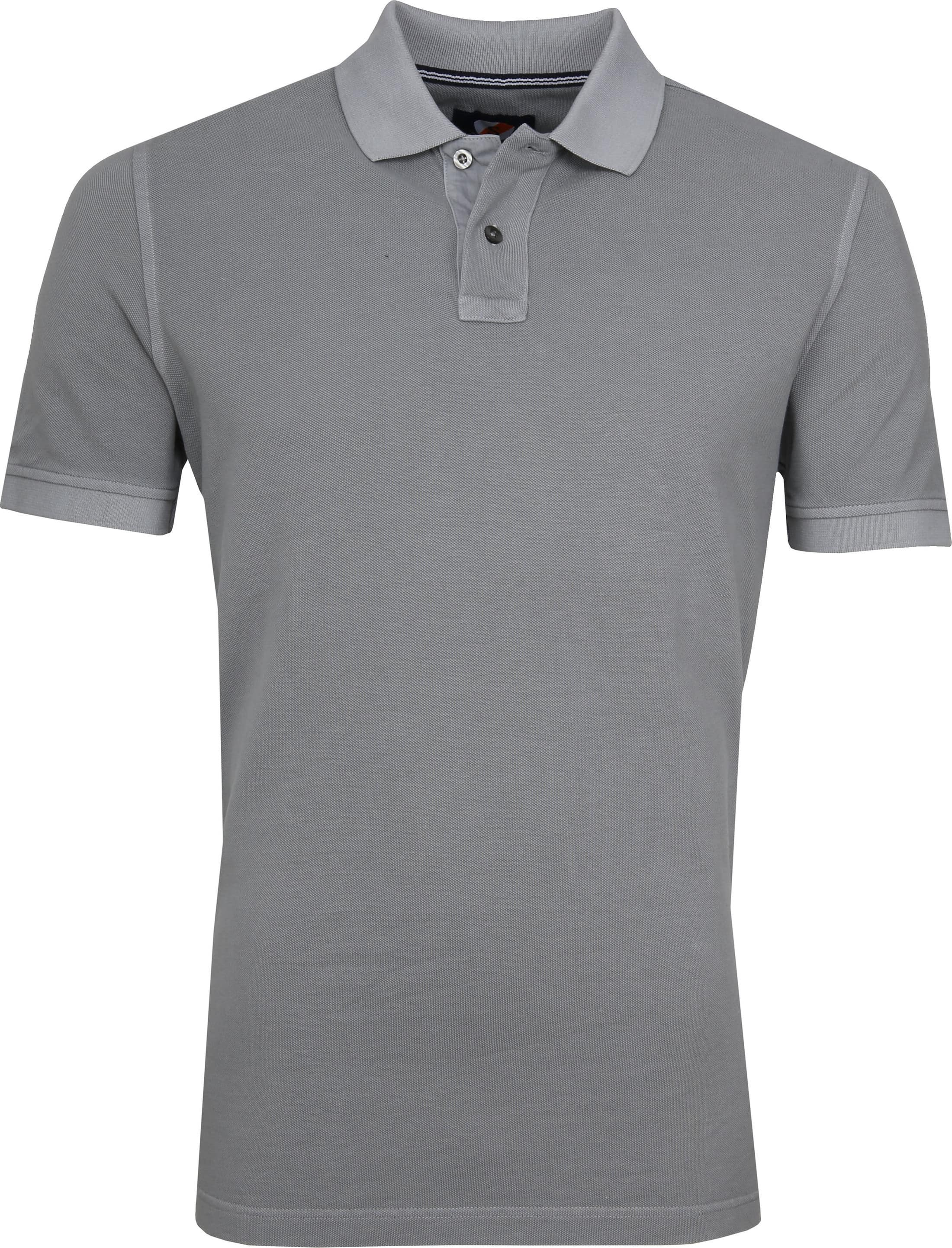 Suitable Stone Wash Poloshirt Grau foto 0