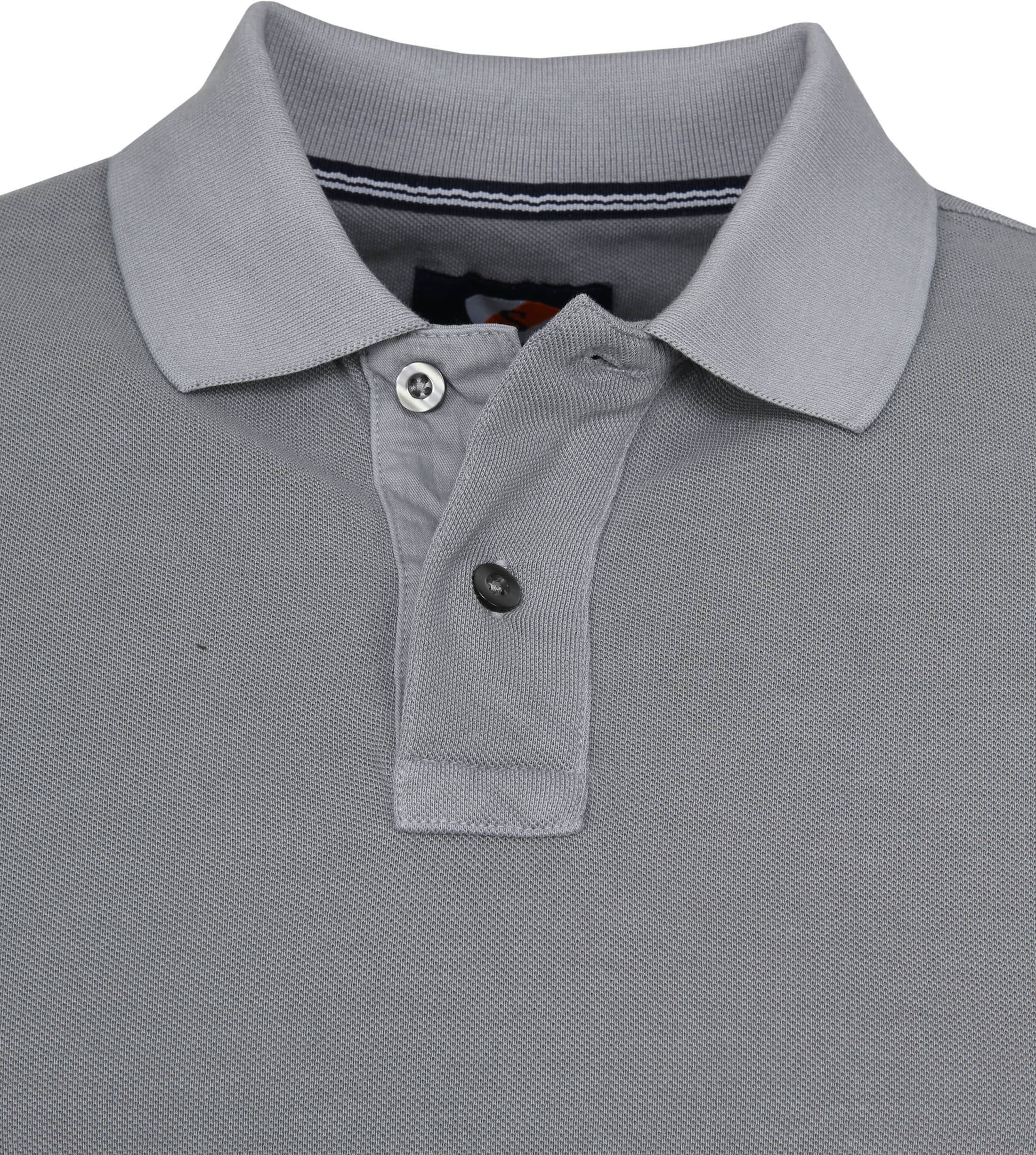 Suitable Stone Wash Poloshirt Grau foto 1