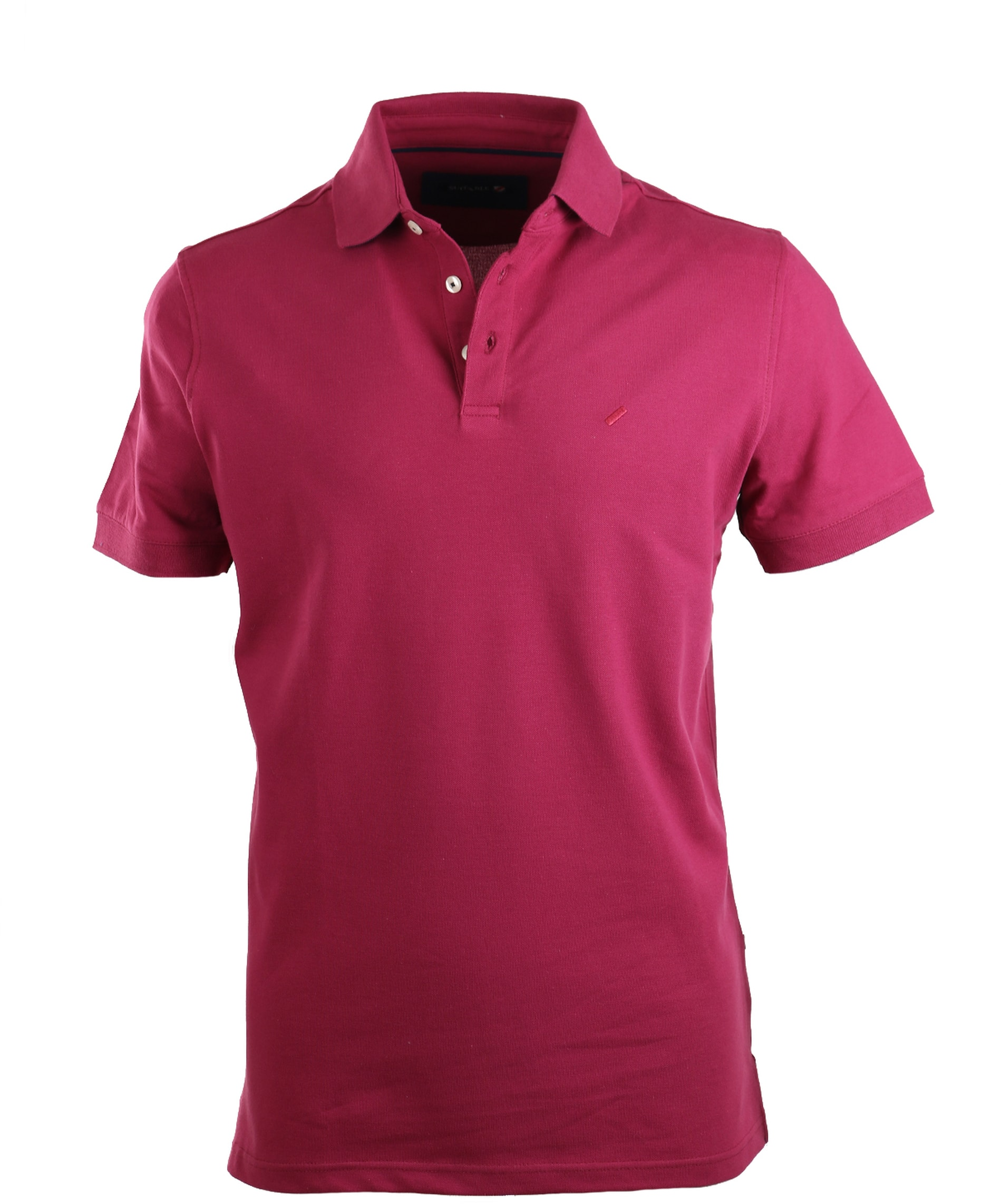 Suitable Stretch Polo Bordeaux Rood foto 0