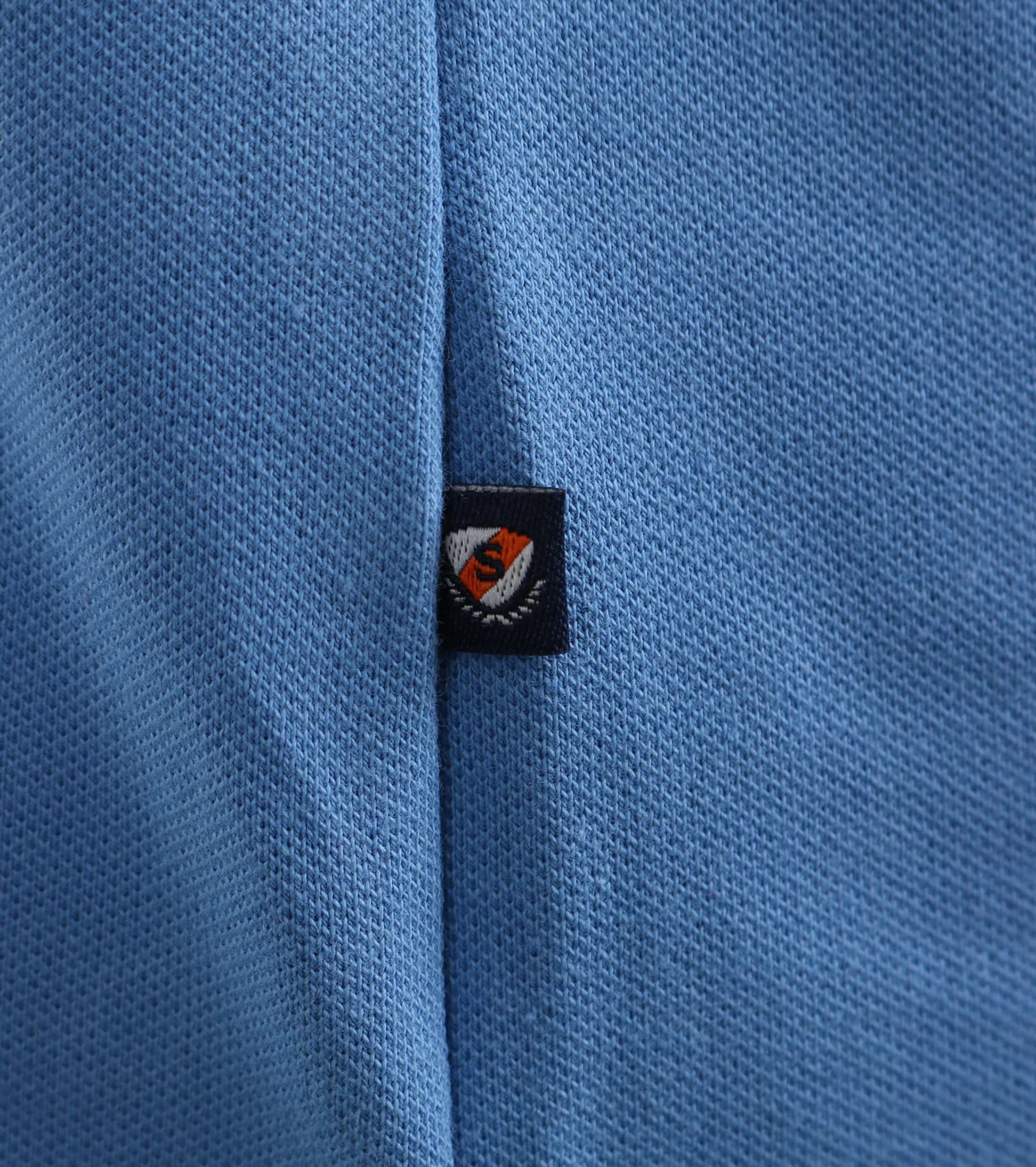 Suitable Stretch Polo Mid Blue foto 2