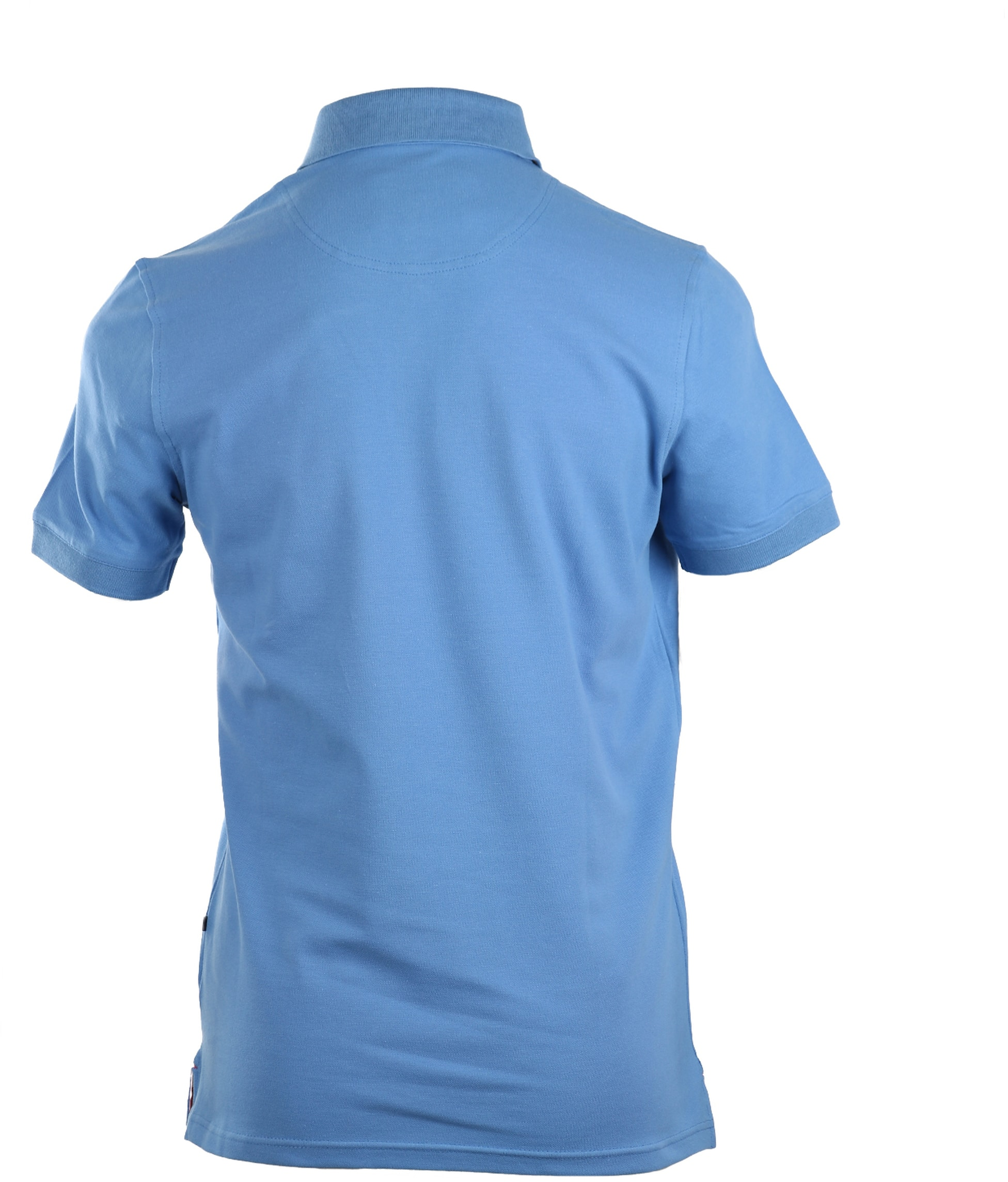 Suitable Stretch Polo Mid Blue foto 3