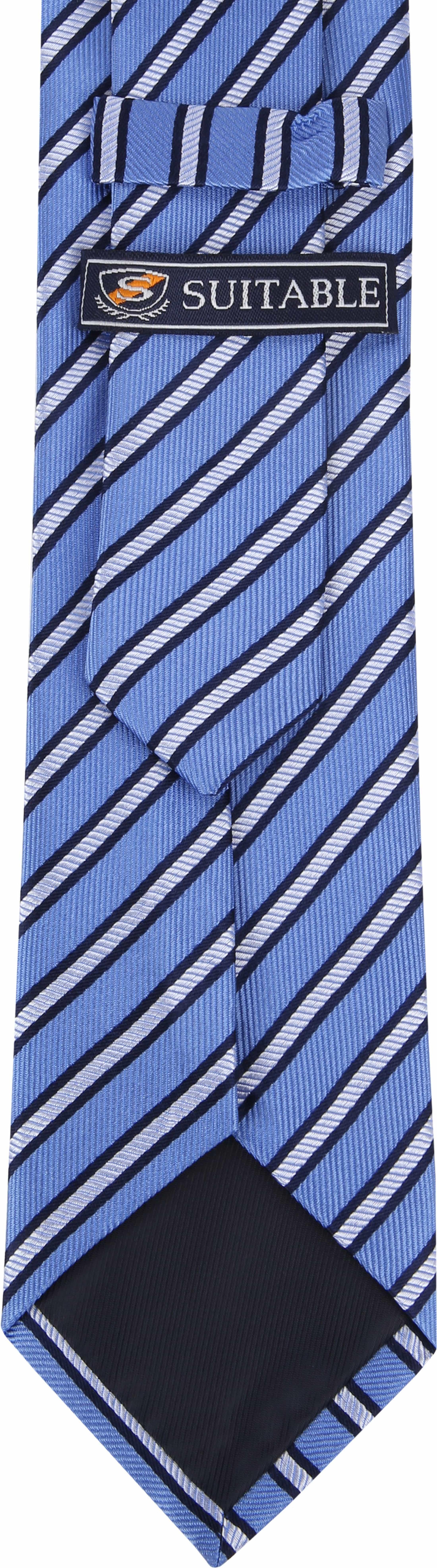 Suitable Stropdas Zijde Streep Blauw foto 2