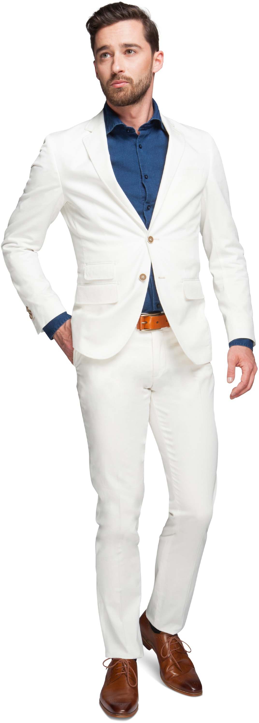 Suitable Suit Algodao Off White foto 0