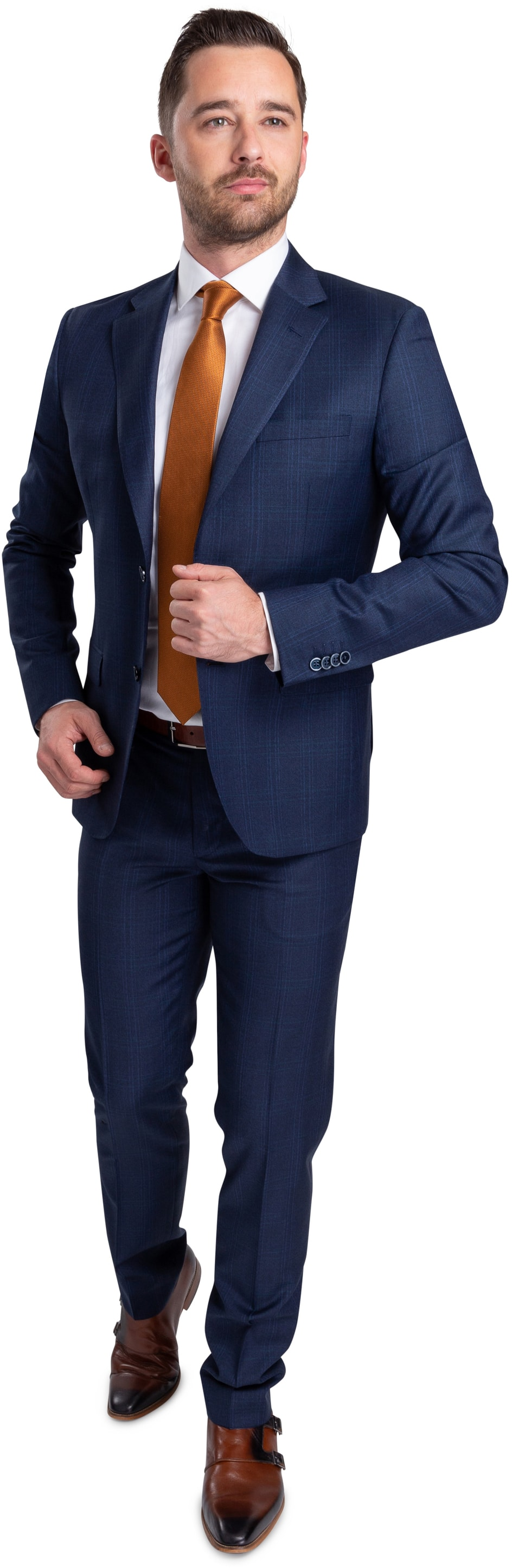 Suitable Suit Strato Navy Checks photo 0