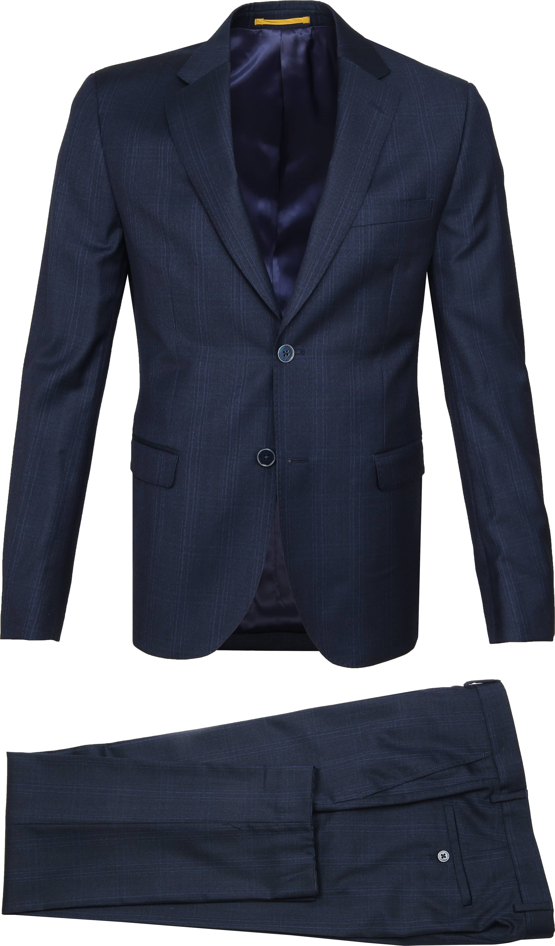Suitable Suit Strato Navy Checks photo 1