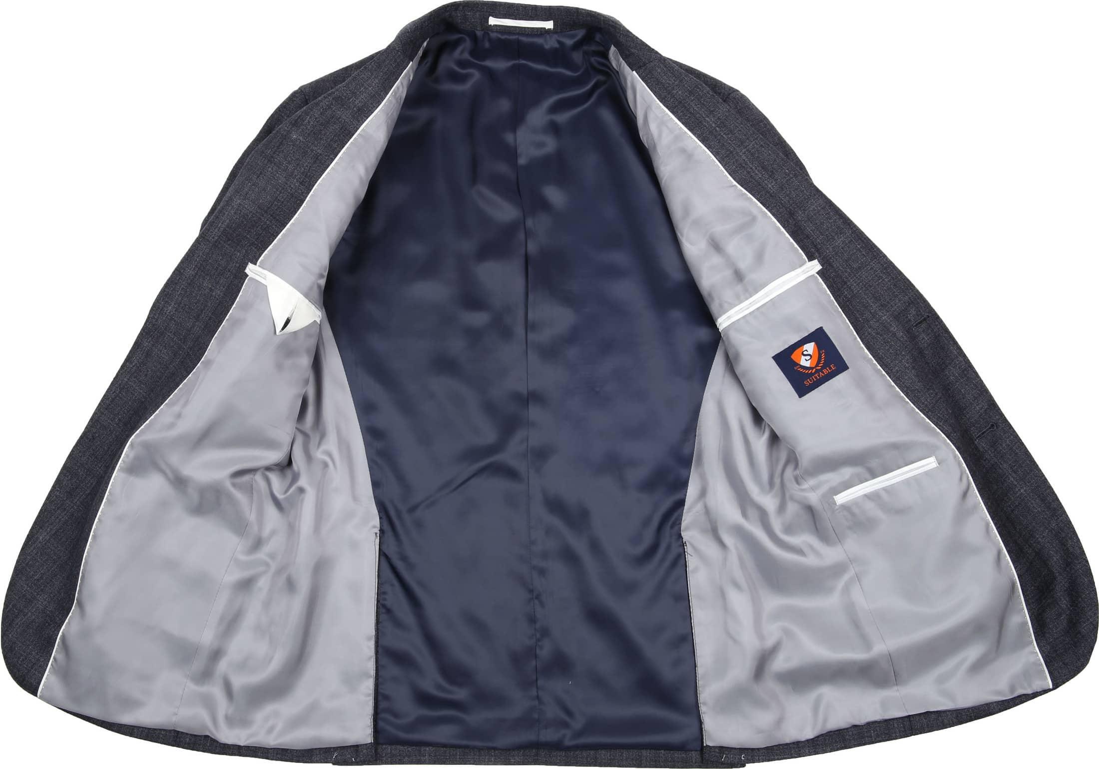 Suitable Suit Strato Windowpane Grey foto 2