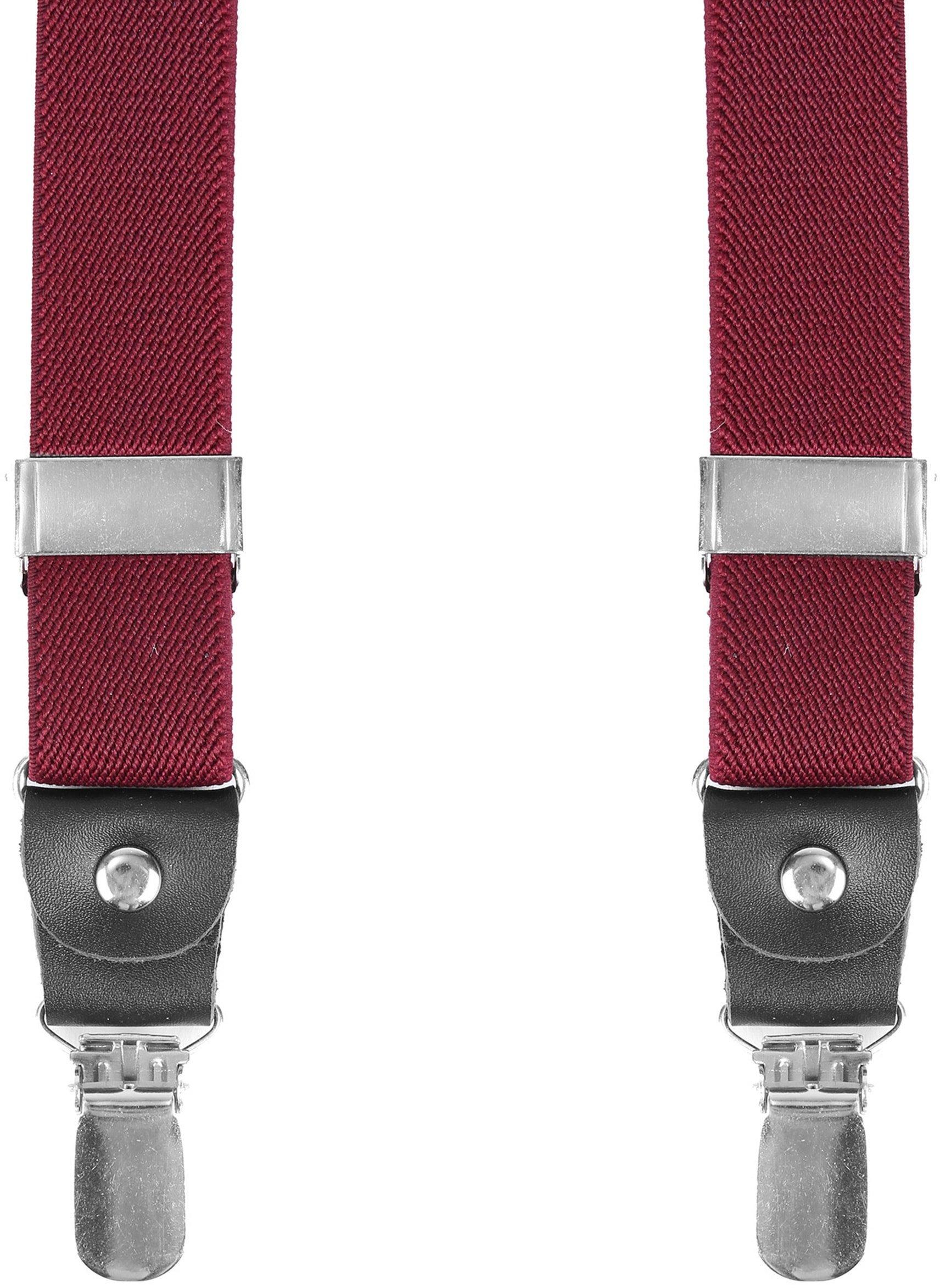 Suitable Suspenders Bordeaux Red photo 0