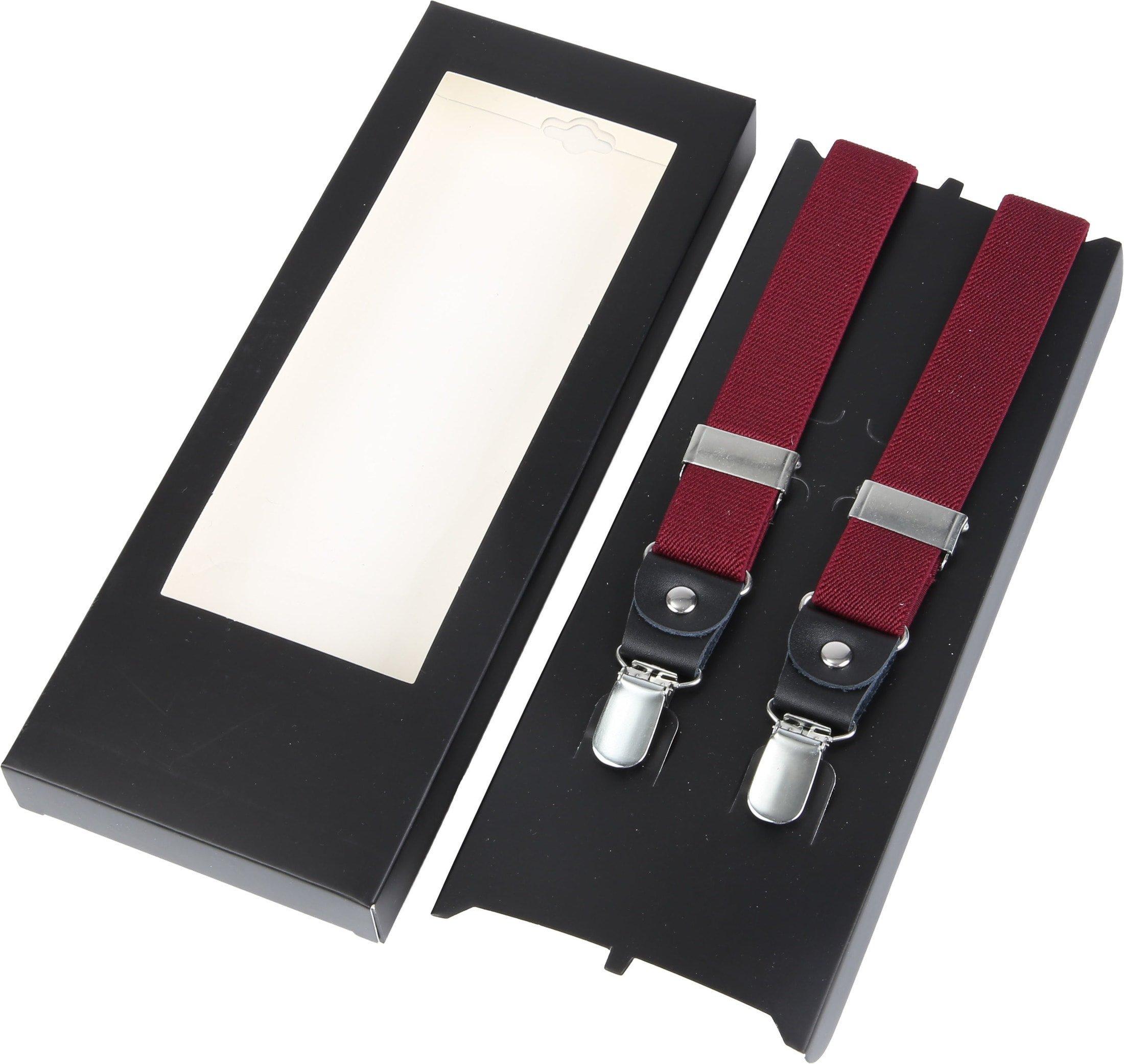Suitable Suspenders Bordeaux Red photo 2