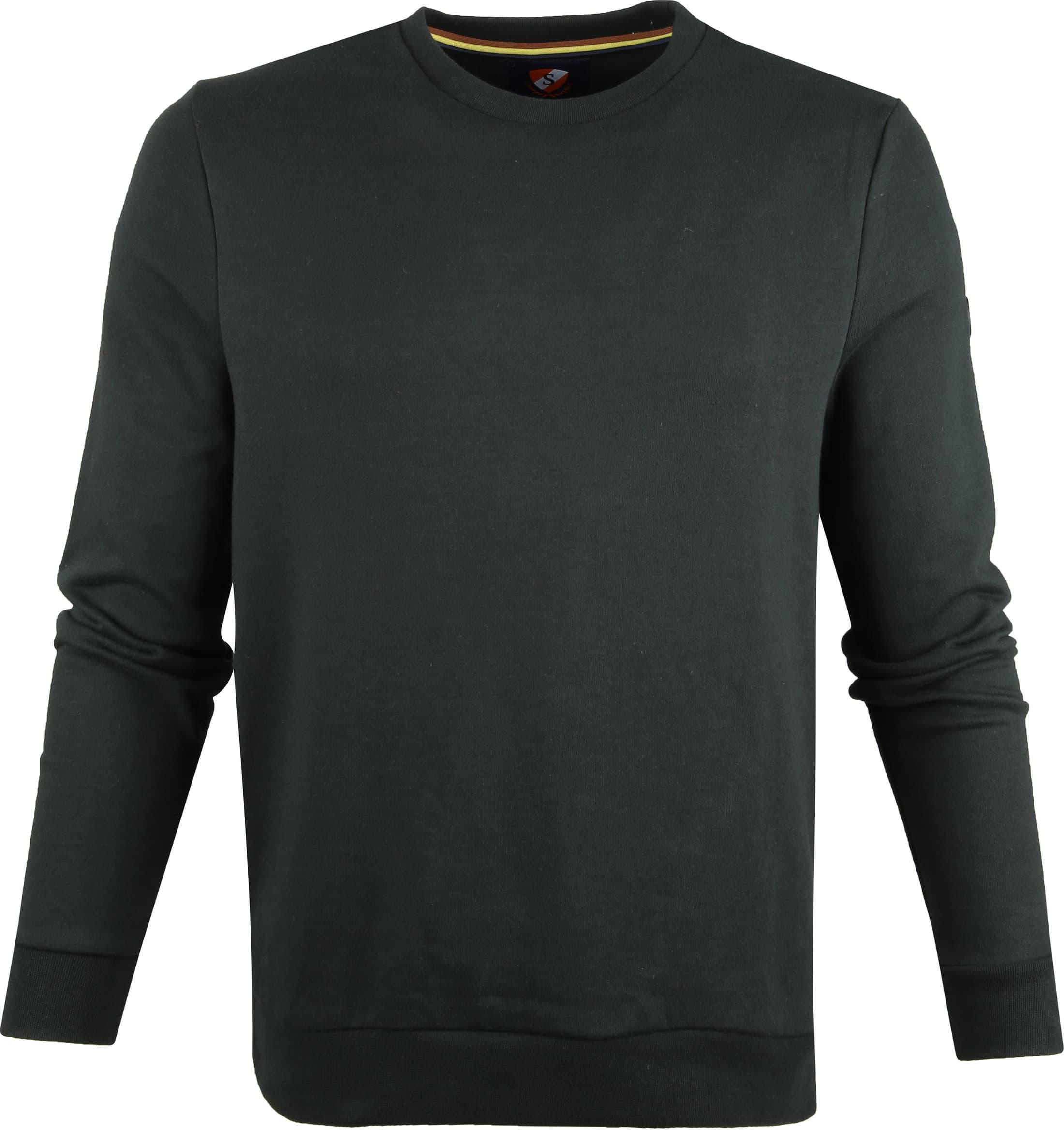 Suitable Sweater Sven Donkergroen foto 0