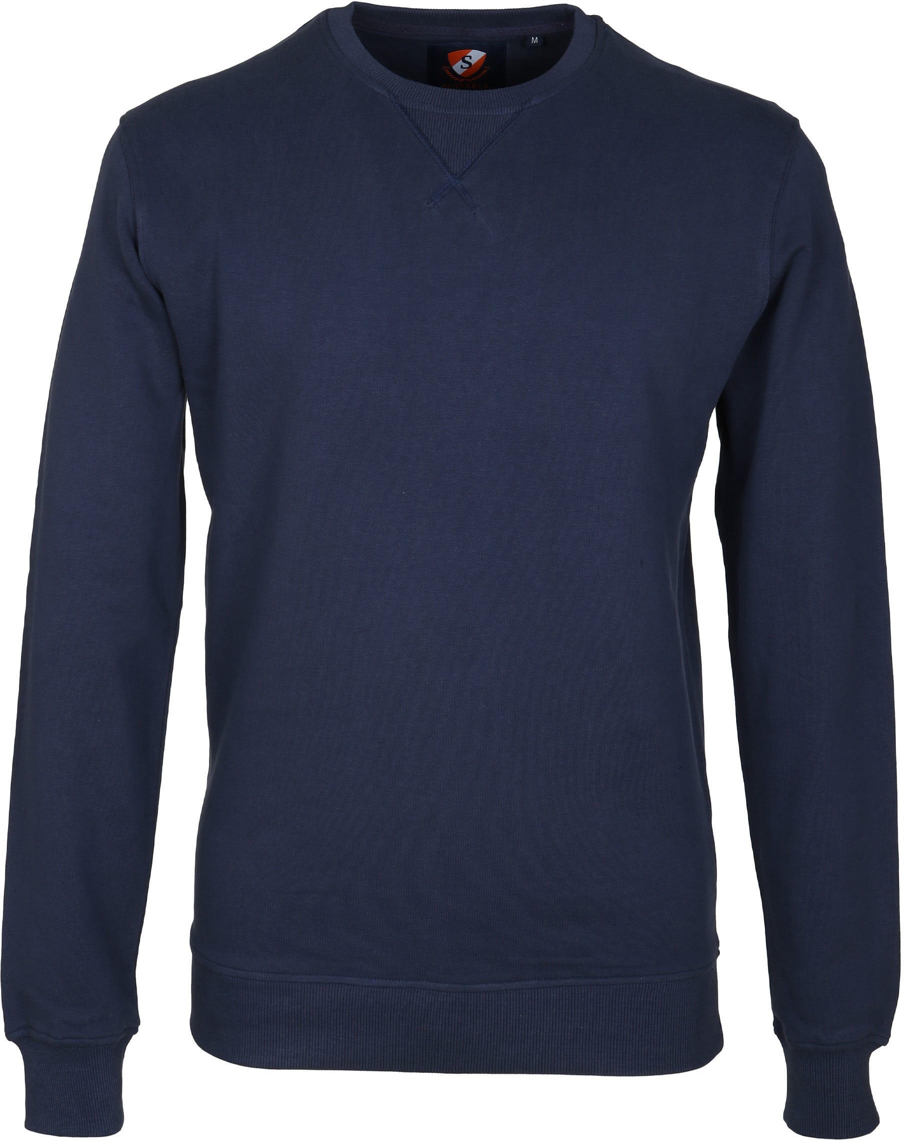 Suitable Sweater Uni Dunkelblau foto 0