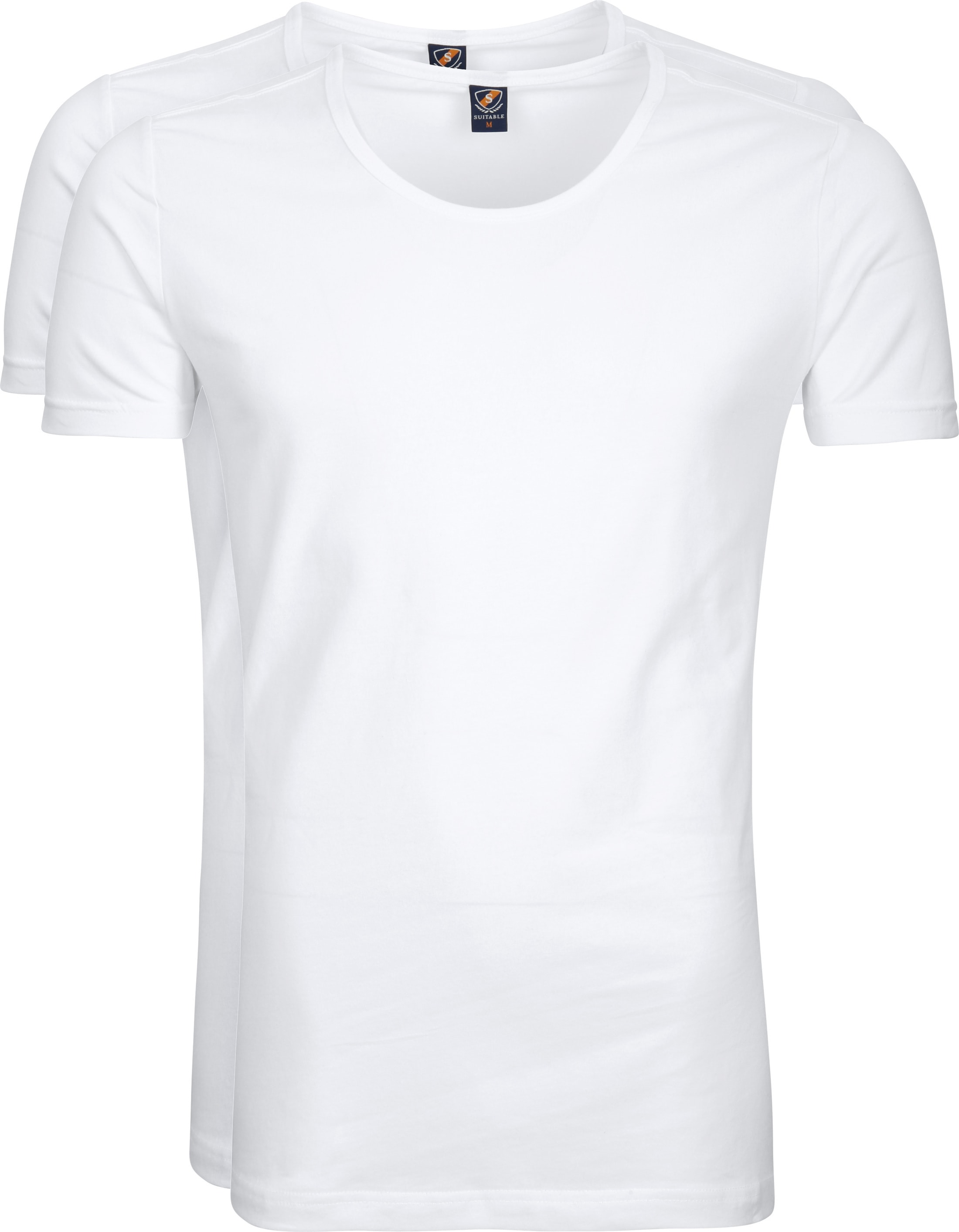 3d8be71628 Suitable T-shirt 2-Pack Deep O-Neck White 145-2 O 95 5 Otaru order ...