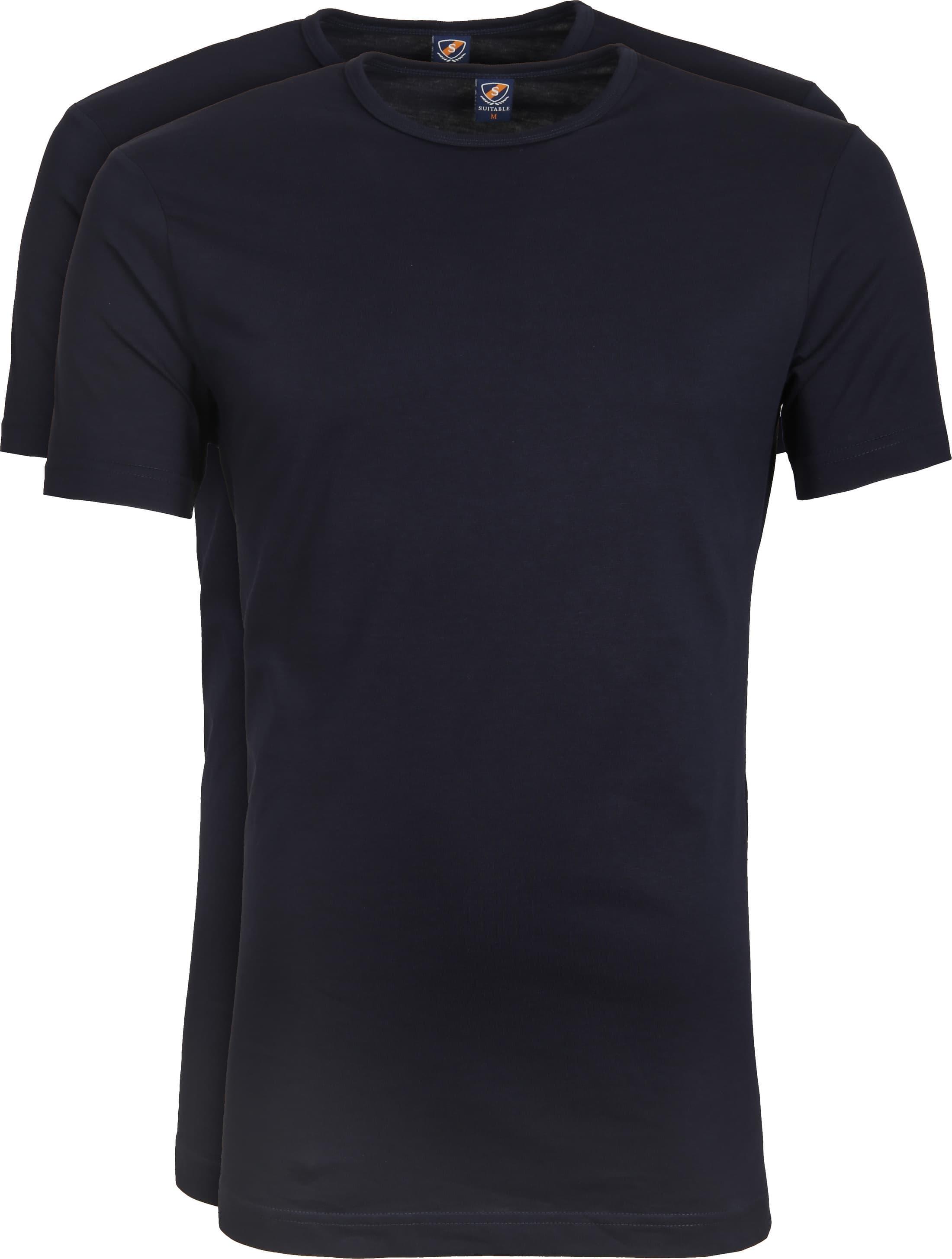 Suitable T-shirt 2-Pack O-Ausschnitt Dunkelblau foto 0