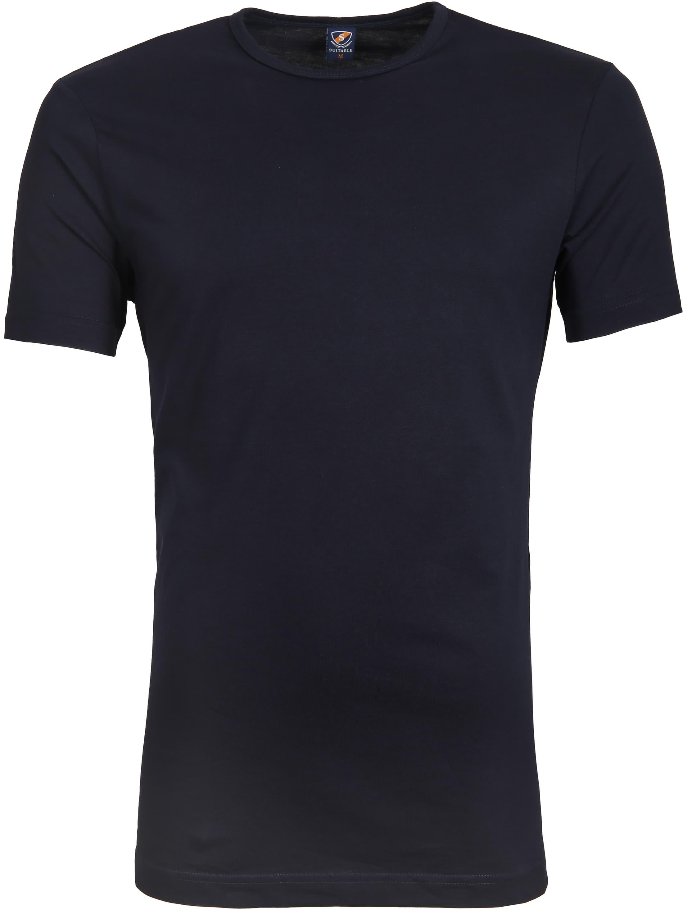 Suitable T-shirt 2-Pack O-Ausschnitt Dunkelblau foto 1